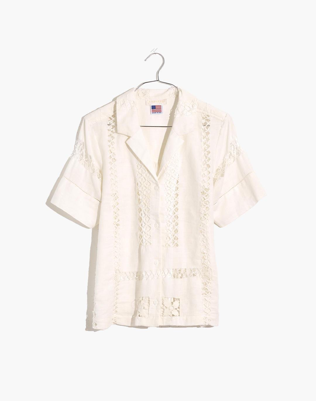 Carleen Lace Dinner Party Button-Up Shirt 3