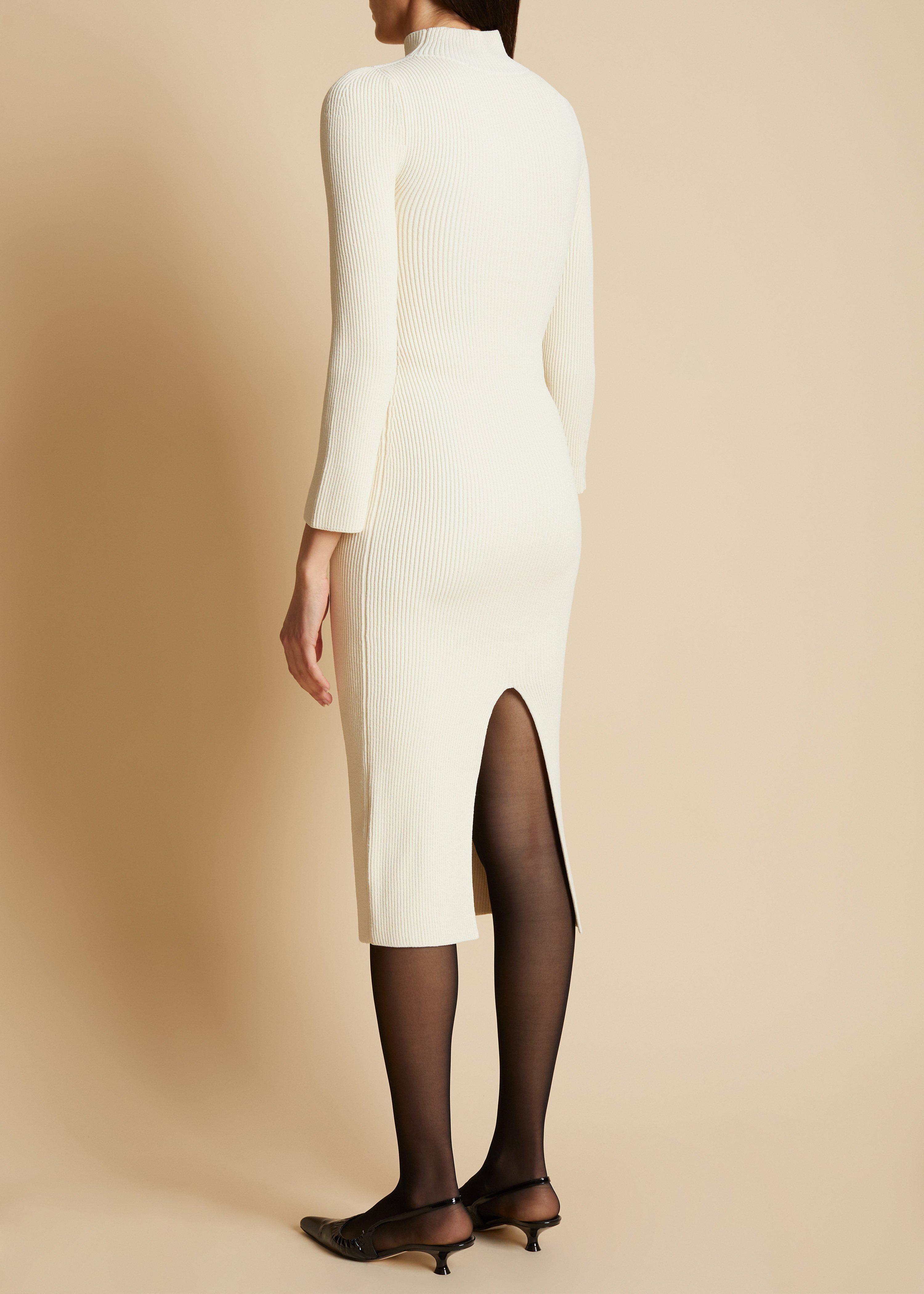 The Mischa Dress in Ivory 2