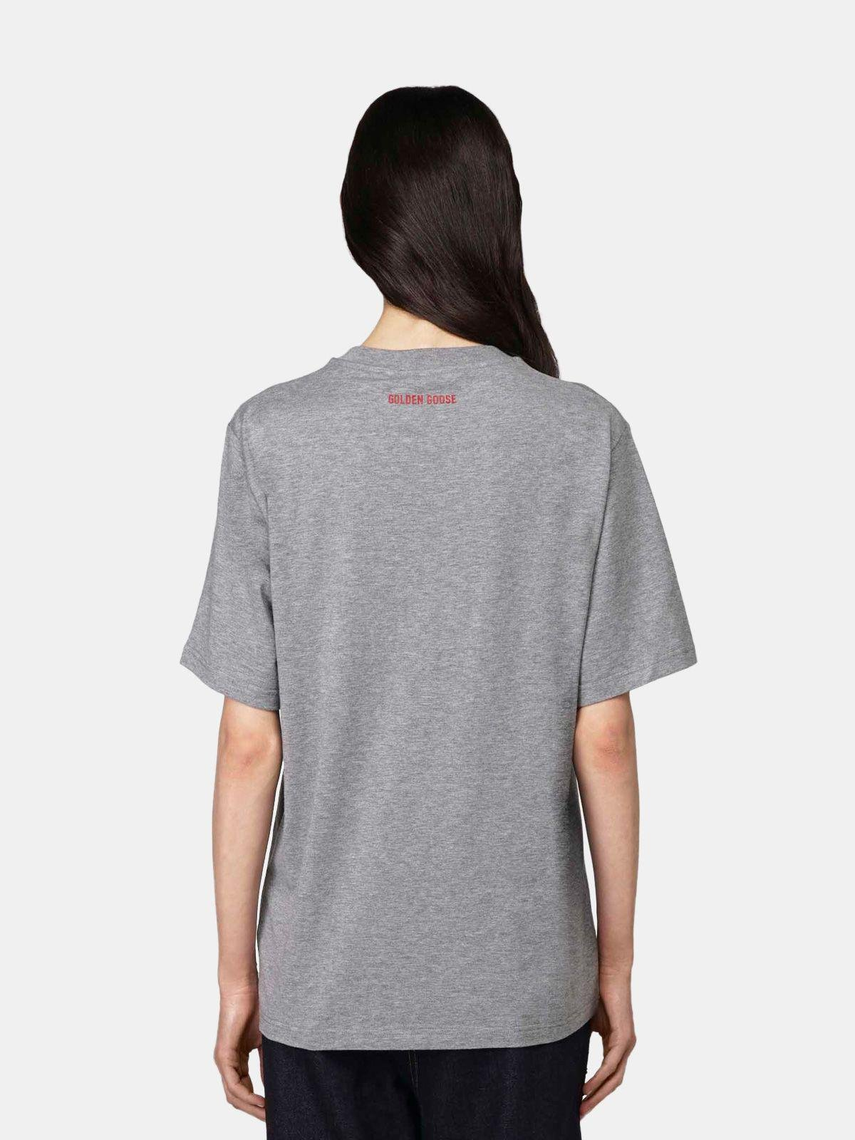 Grey Golden T-shirt with Love embroidery 2