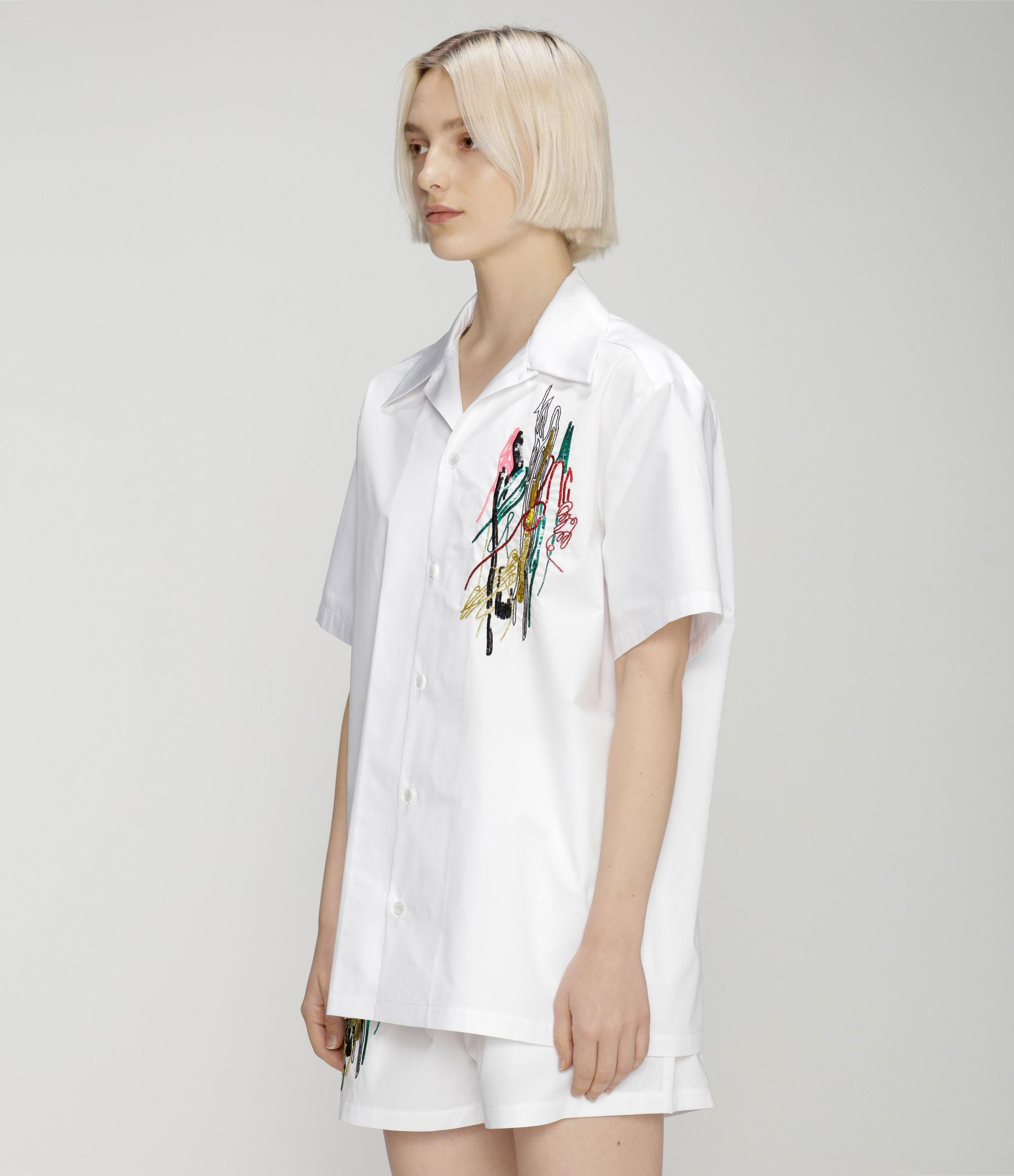 Squiggle sequin cotton shirt 1