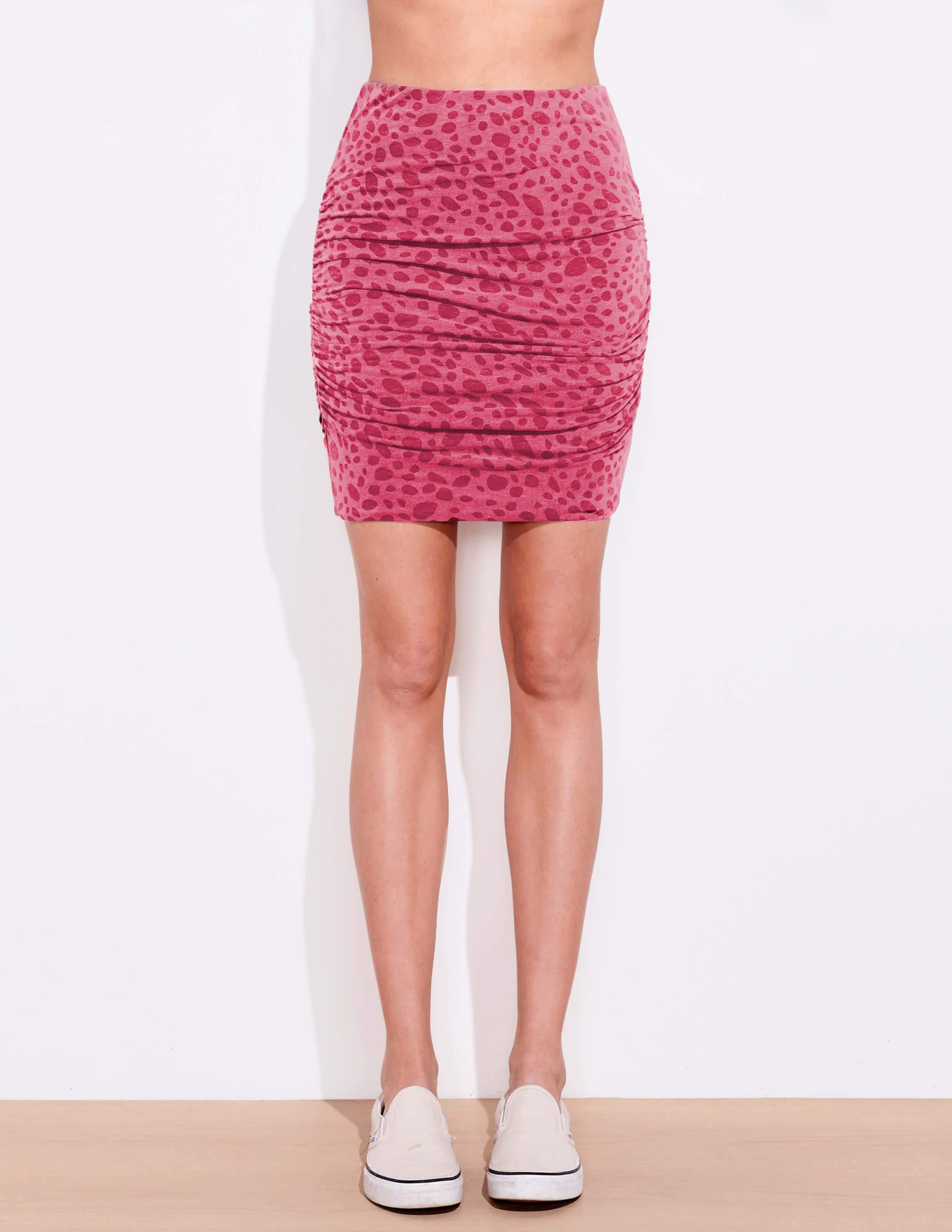 Dots Ruched Skirt 1