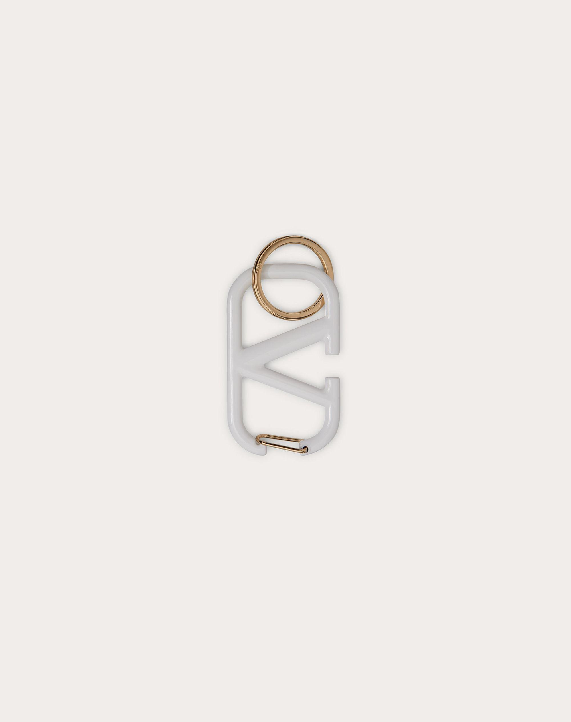 VLOGO SIGNATURE KEYCHAIN IN LACQUERED METAL 0