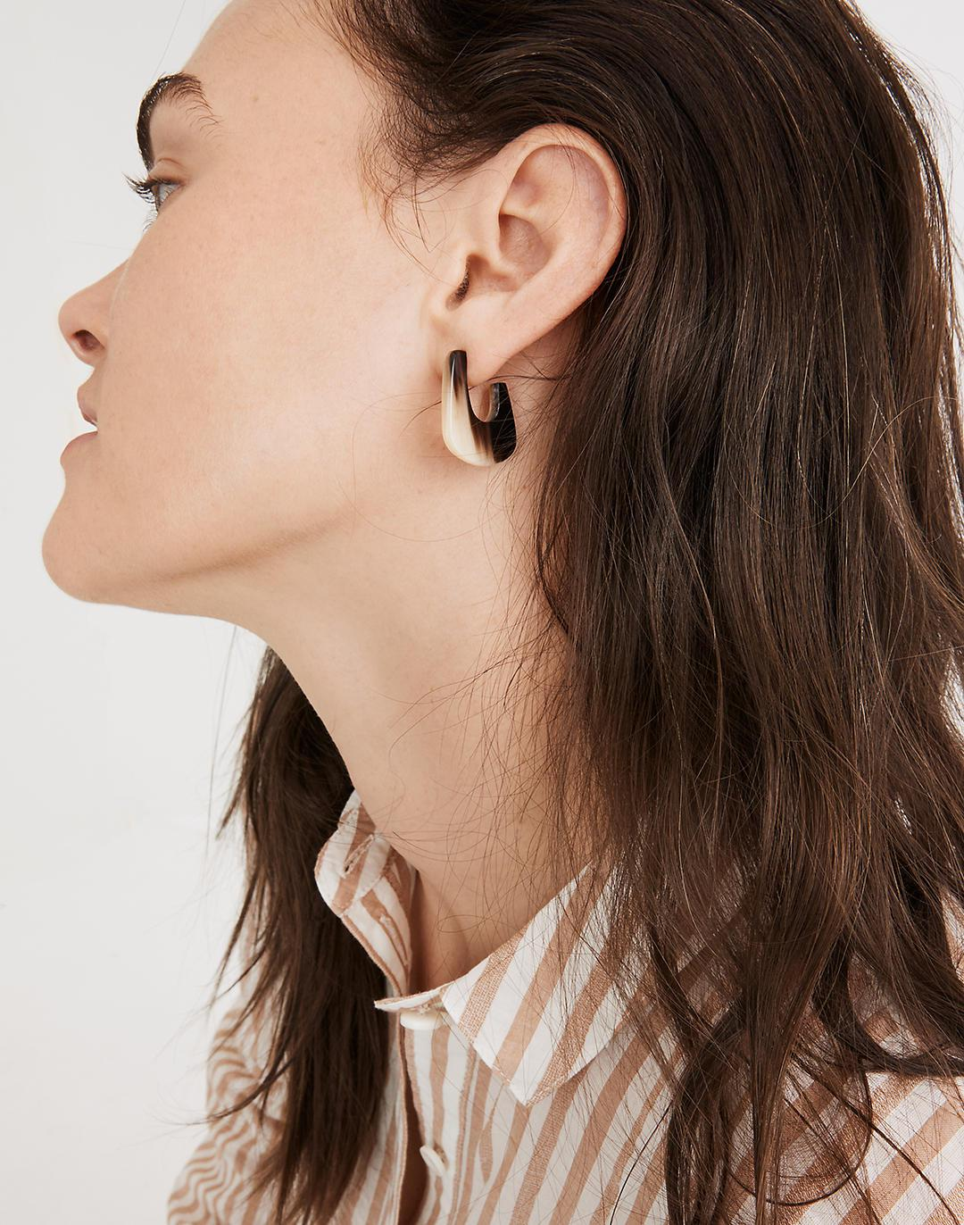 To The Market Upcycled Horn Hoop Earrings