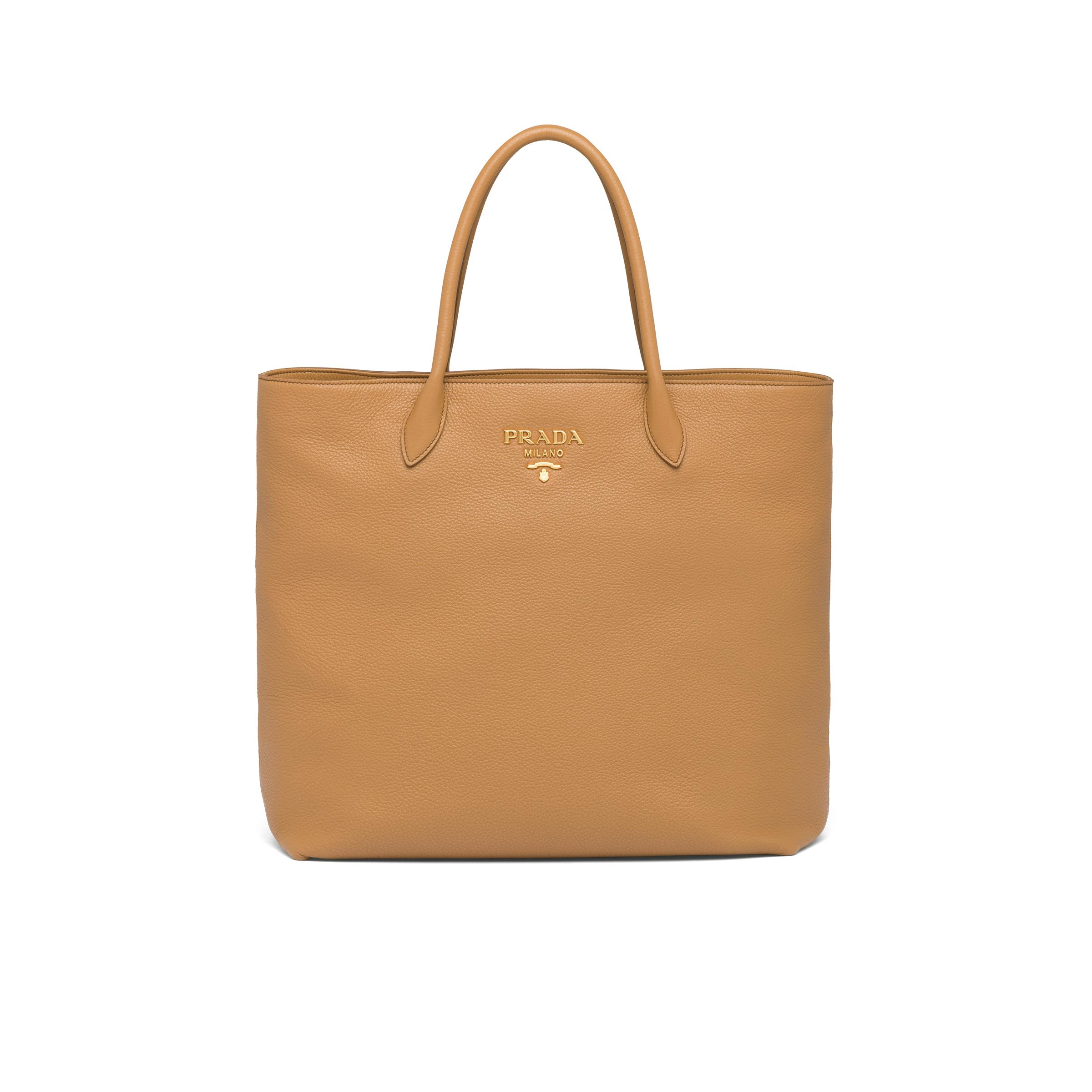 Leather Tote Women Caramel M