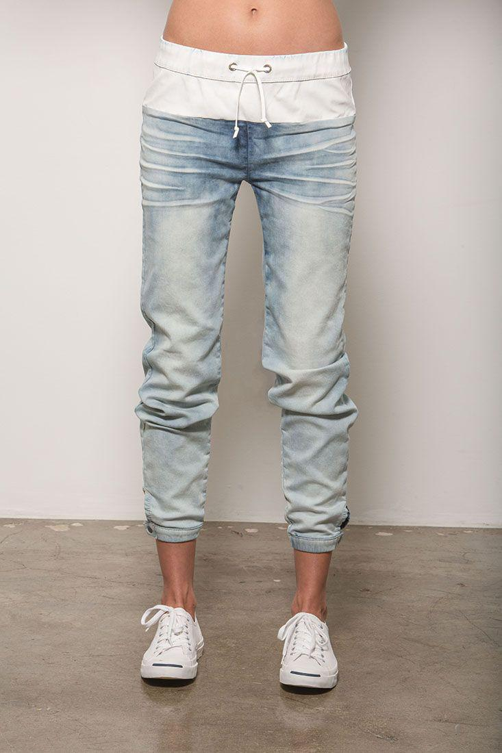Carrie Mineral Washed Denim Jogger Pants