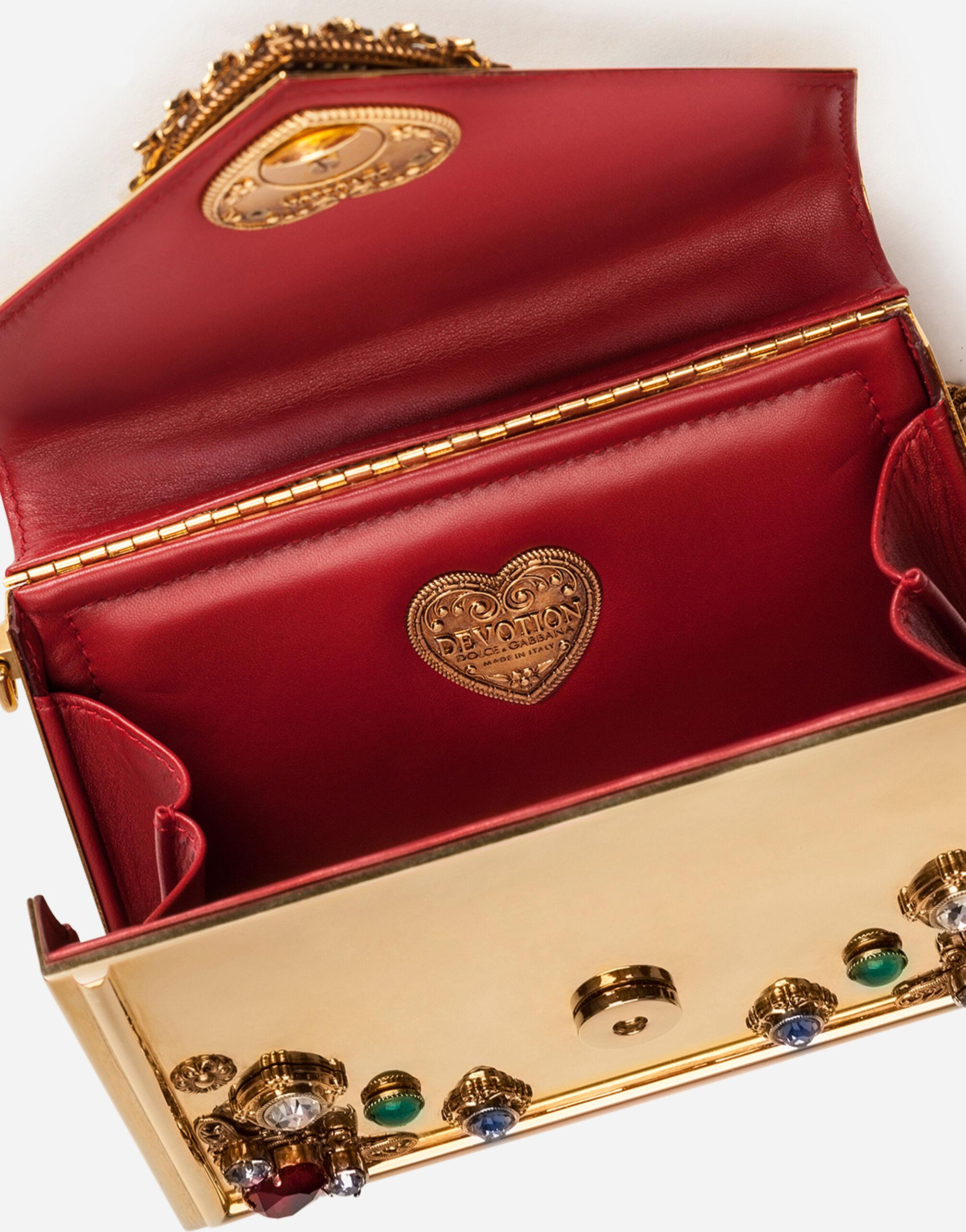 Small metallic Devotion bag with bejeweled detailing 3