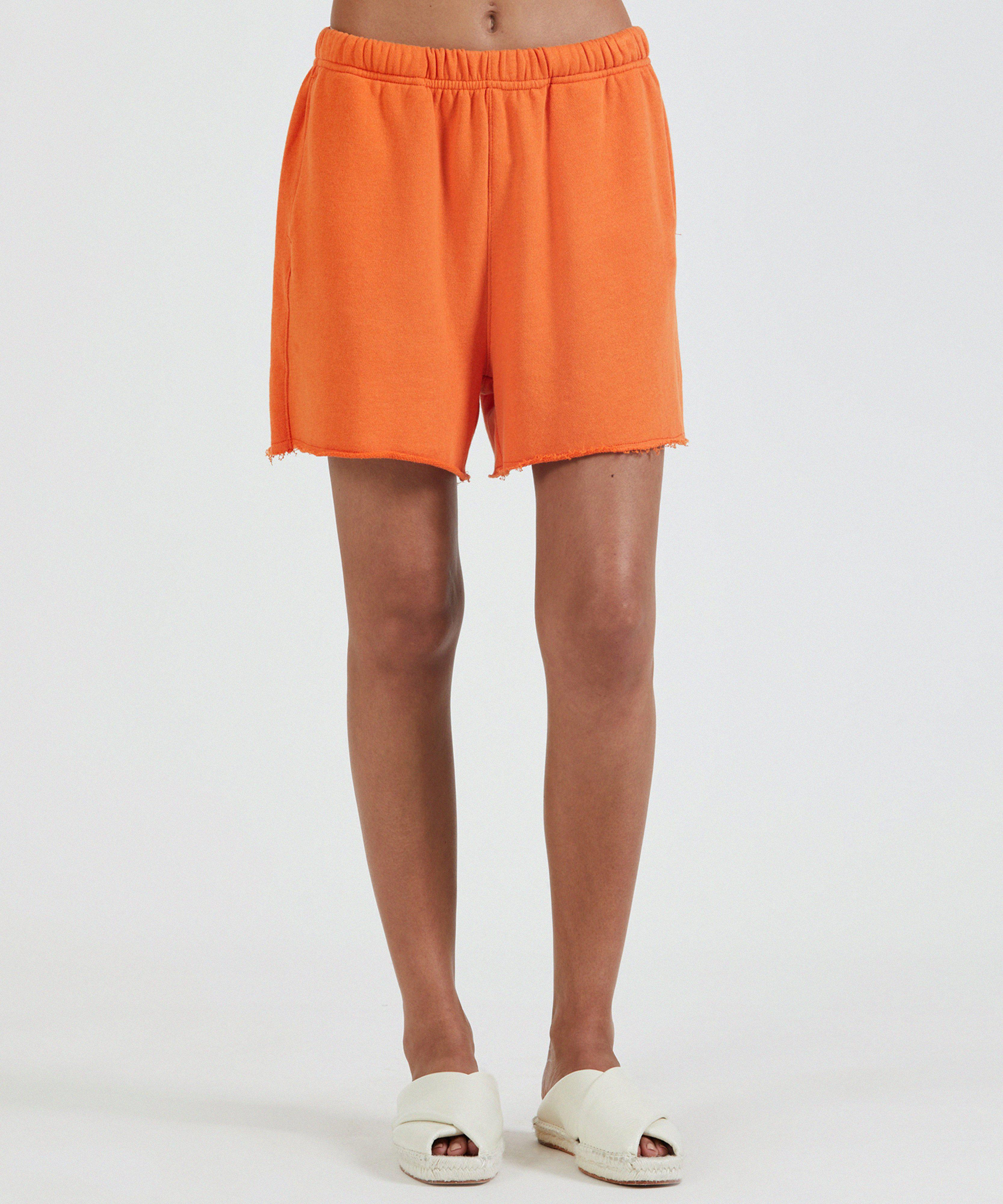 French Terry Pull-On Short - Clementine
