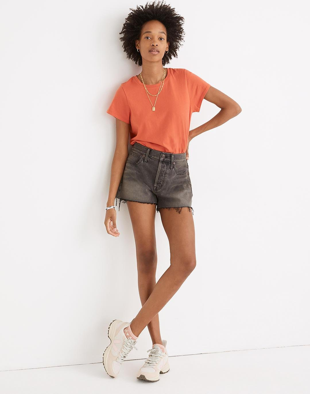 Relaxed Denim Shorts in Bienville Wash