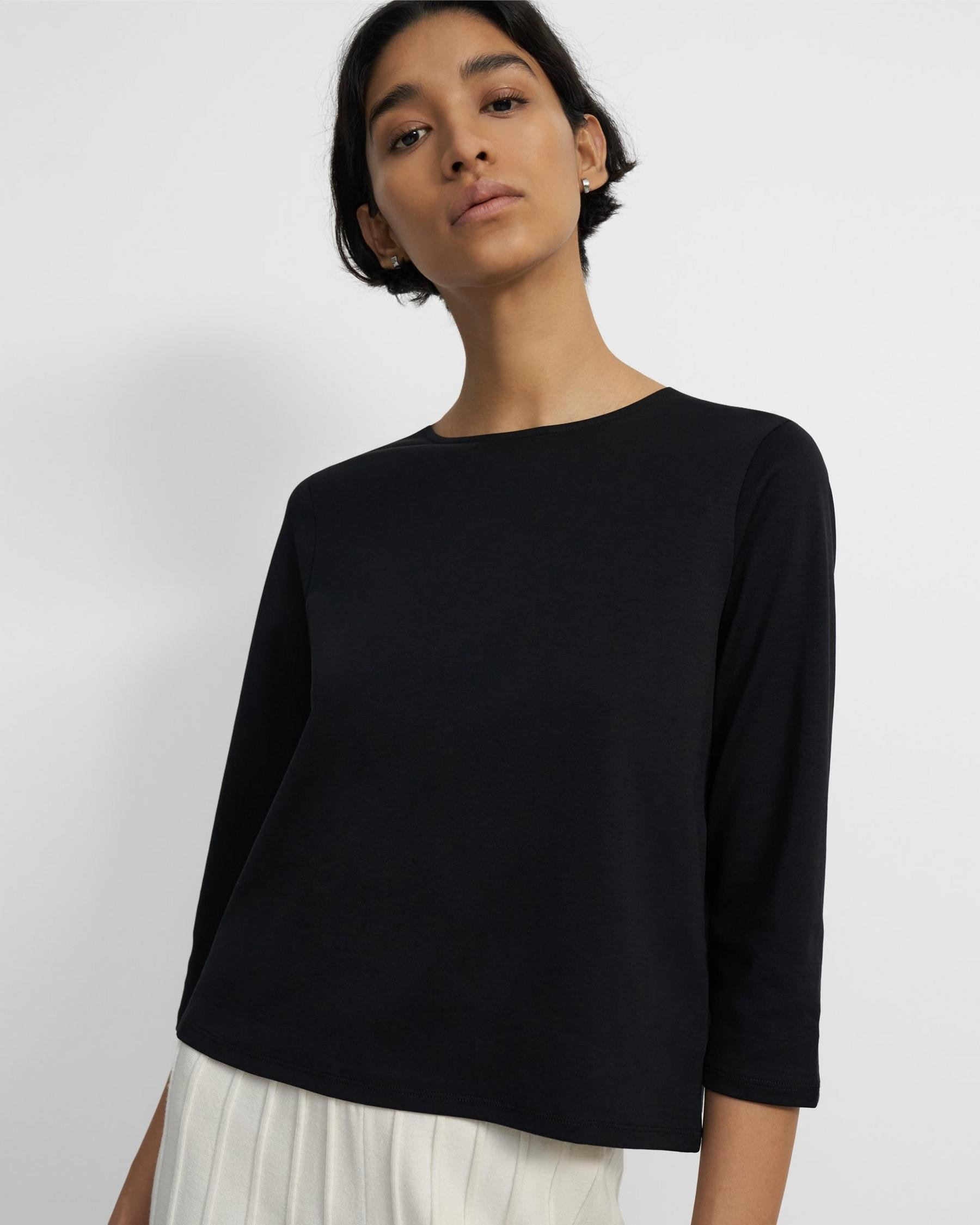 Square Tee in Cotton Jersey 0