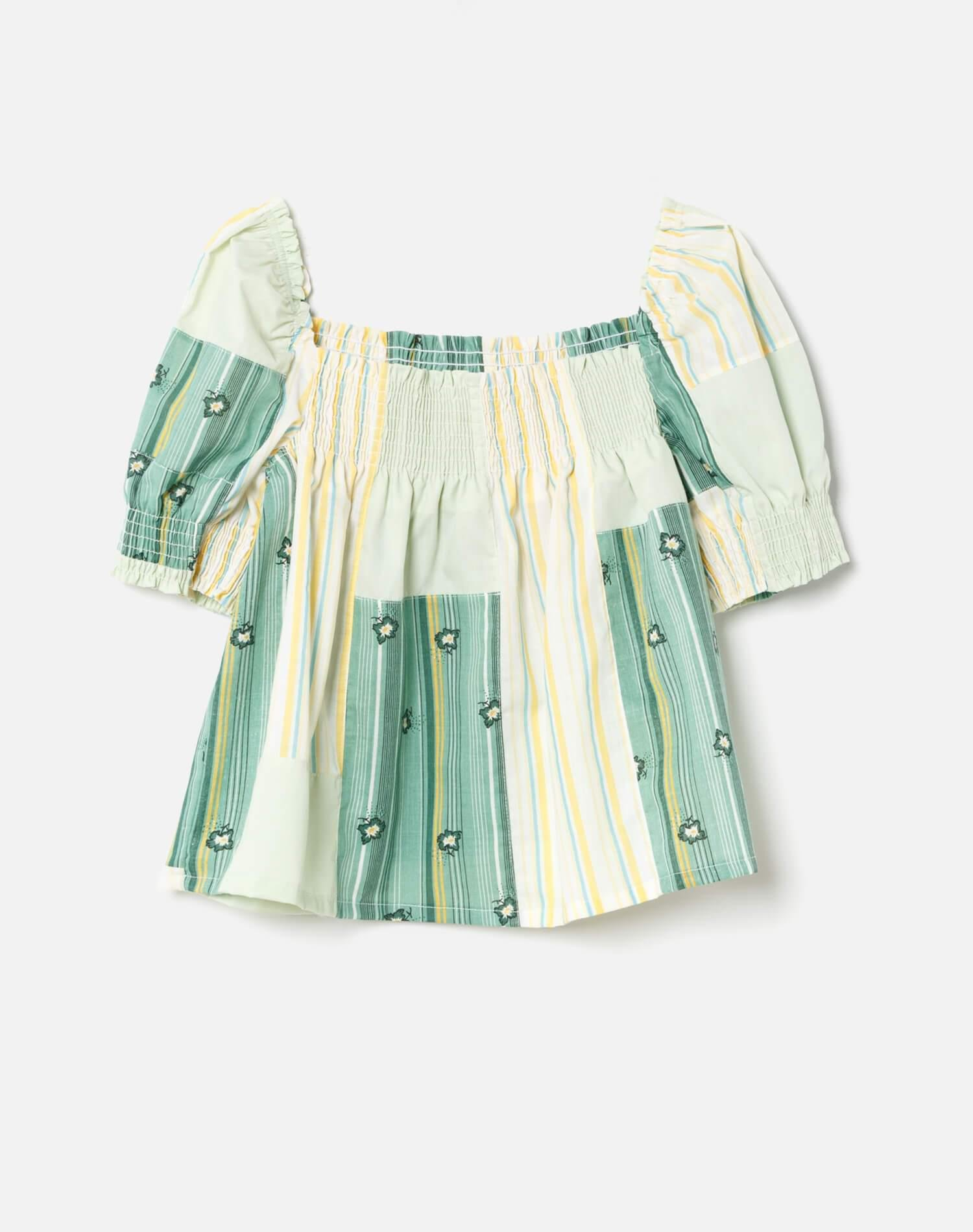 70s Upcycled Babydoll Top