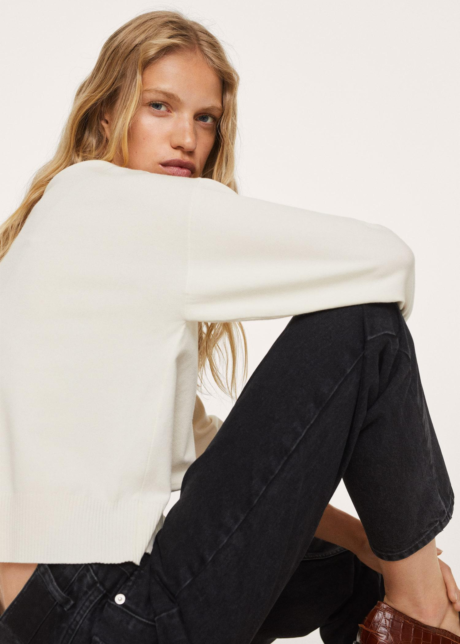 100% cotton mom-fit jeans 5