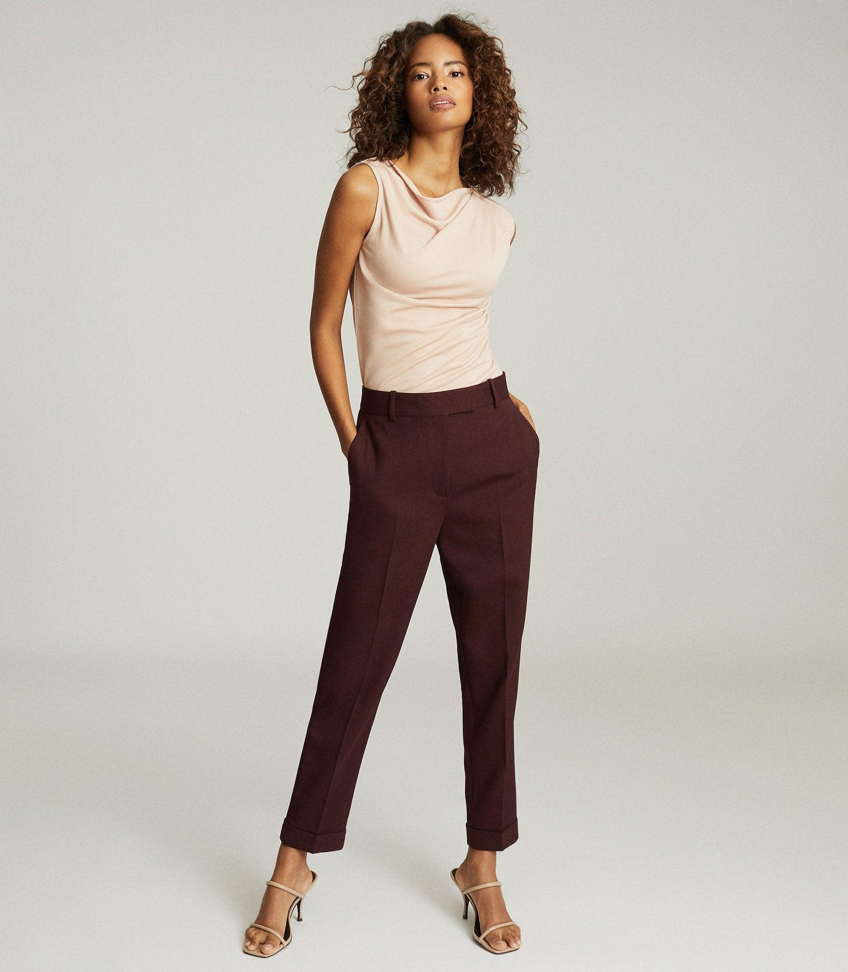 FREYA - SLIM FIT TAILORED TROUSERS