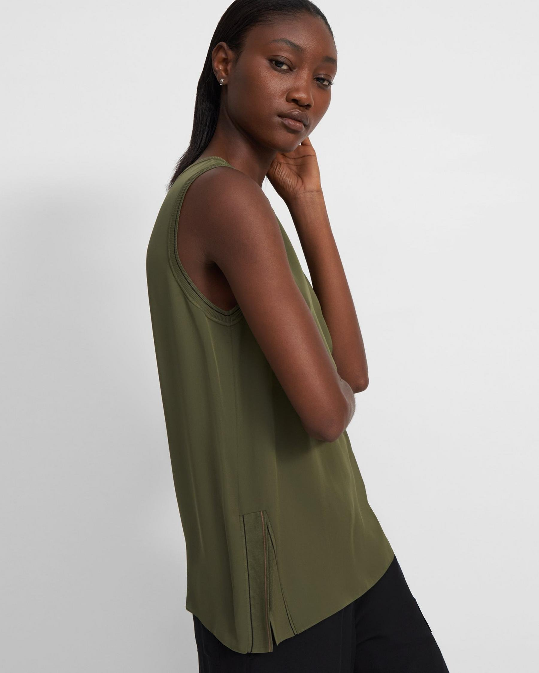 Combo Shell Top in Silk 1
