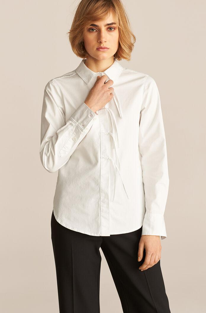 LONG SLEEVE COMPACT TWILL BLOUSE