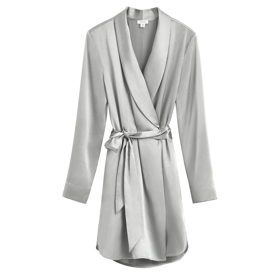 Women's Washable Charmeuse Robe in Sage | Size: