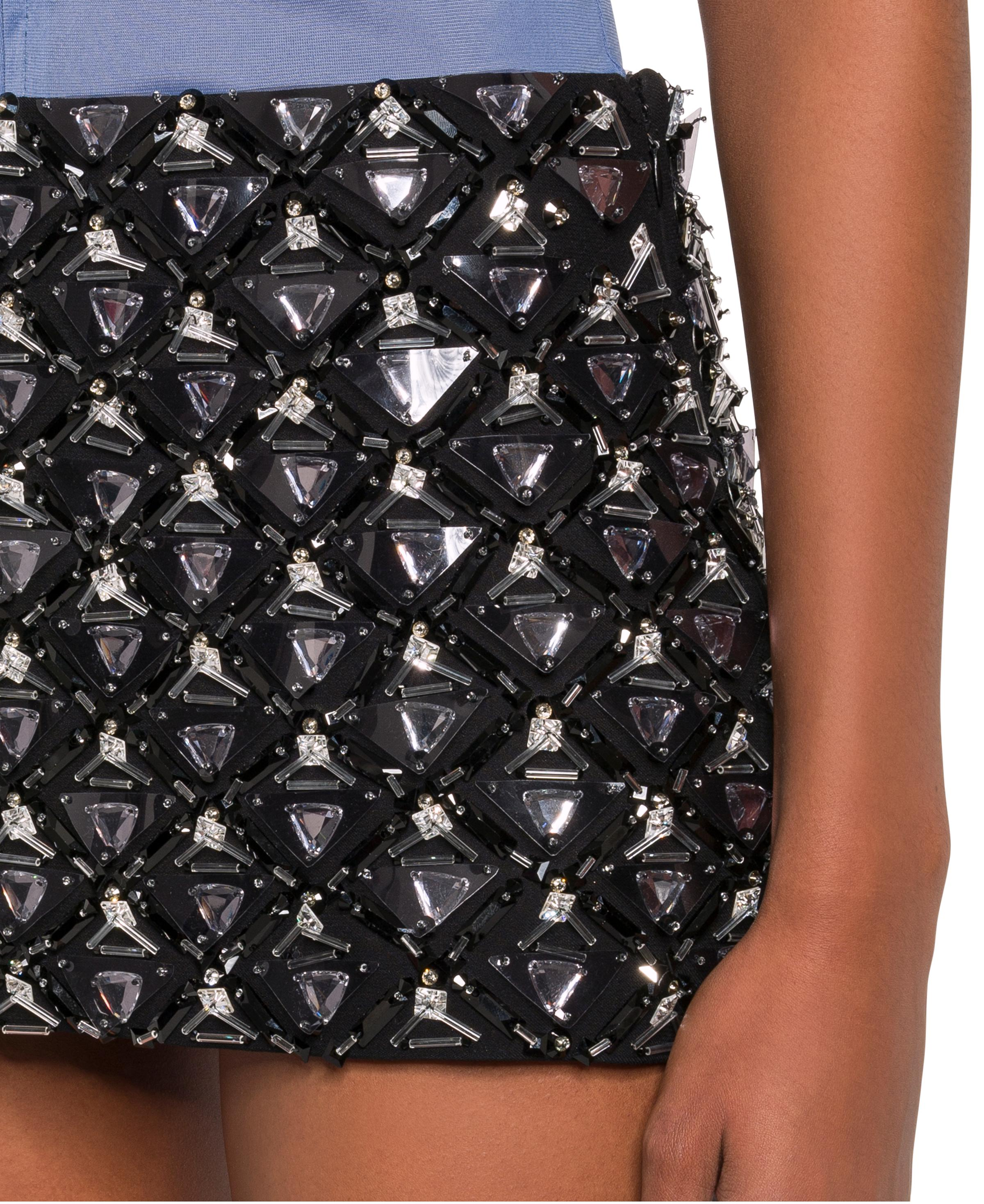 Embroidered Cady Skirt Women Black Size 38 4