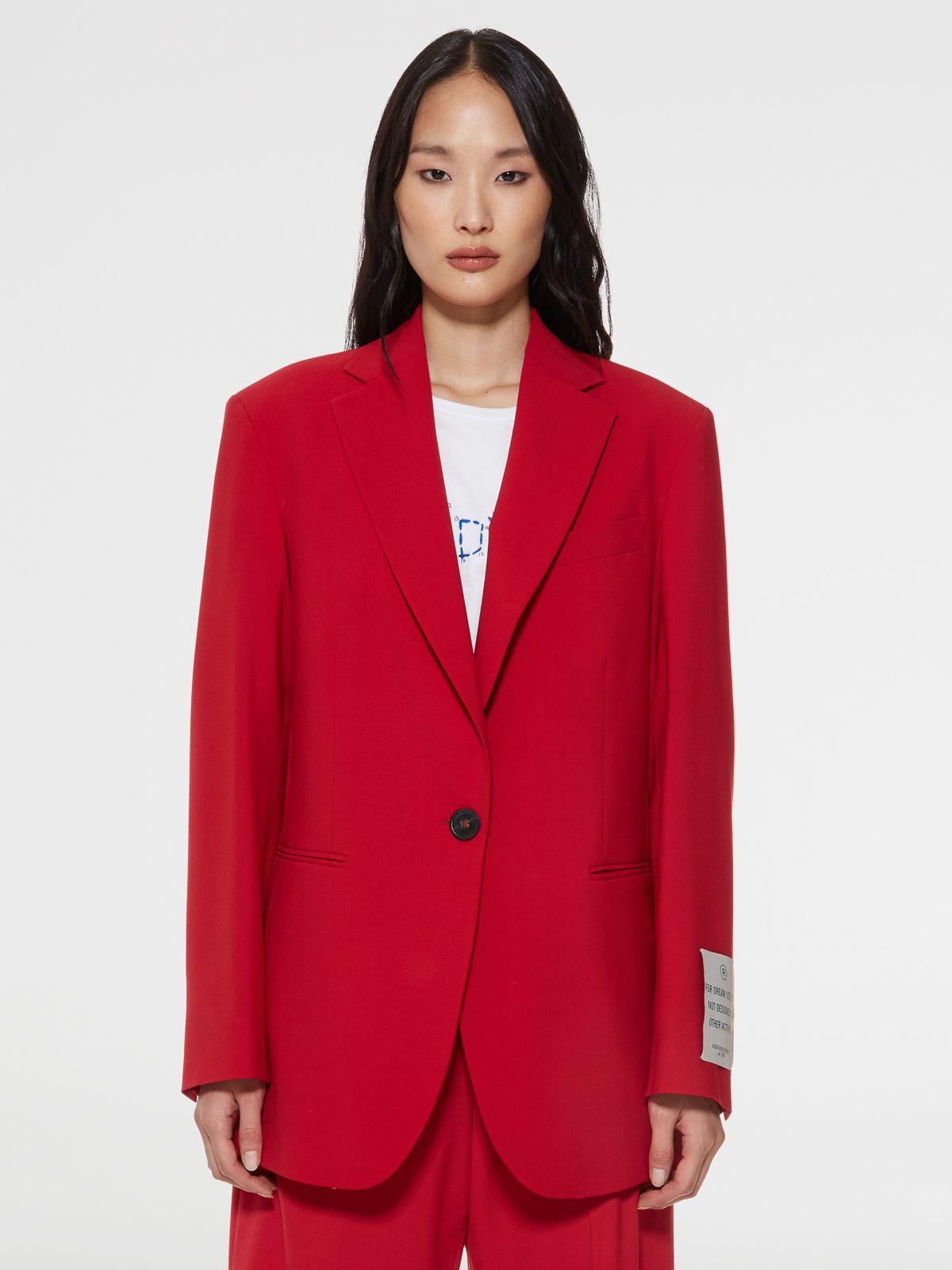 Red Bova blazer with single-breasted fastening
