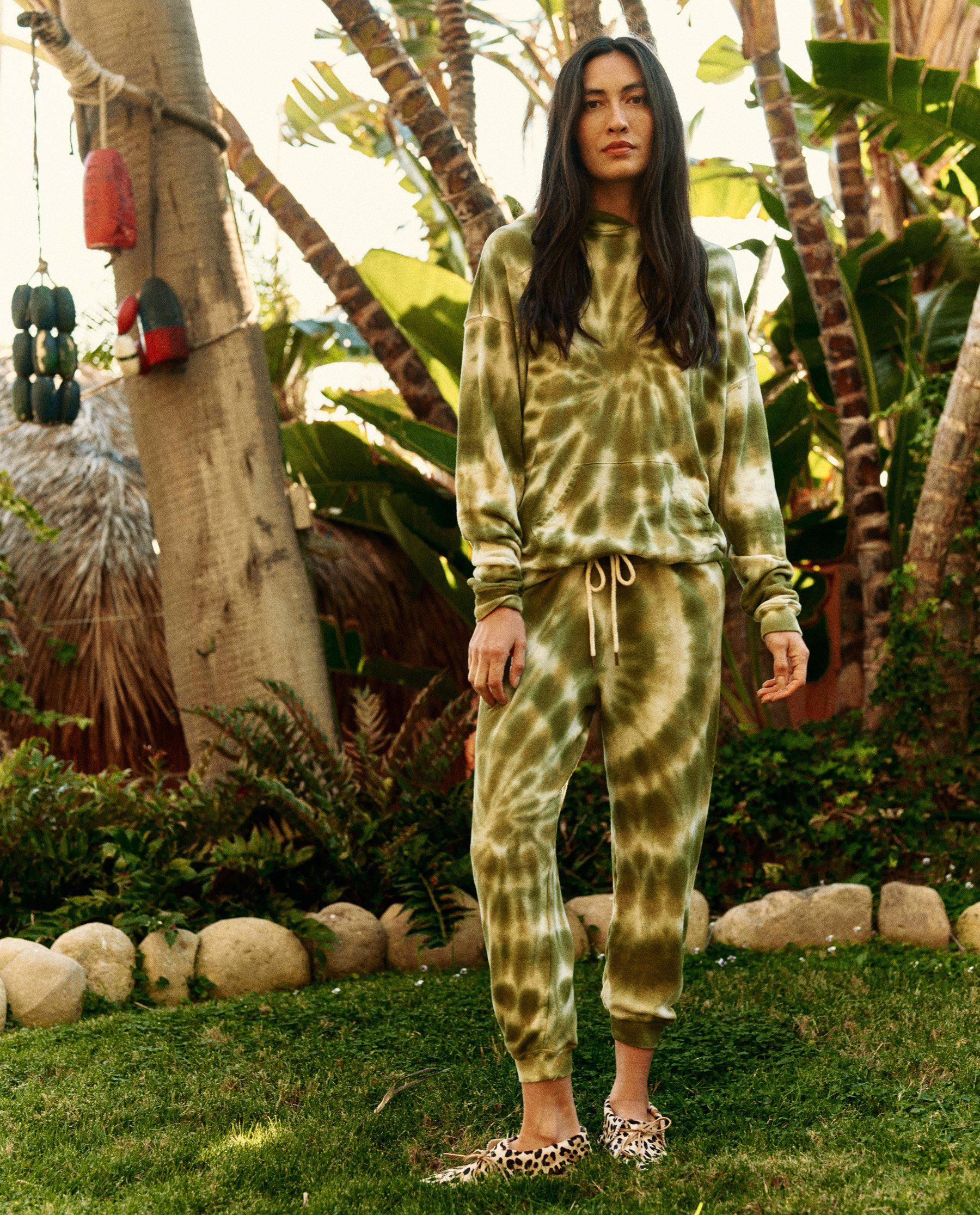 The Cropped Sweatpant. Novelty -- Army Tie Dye