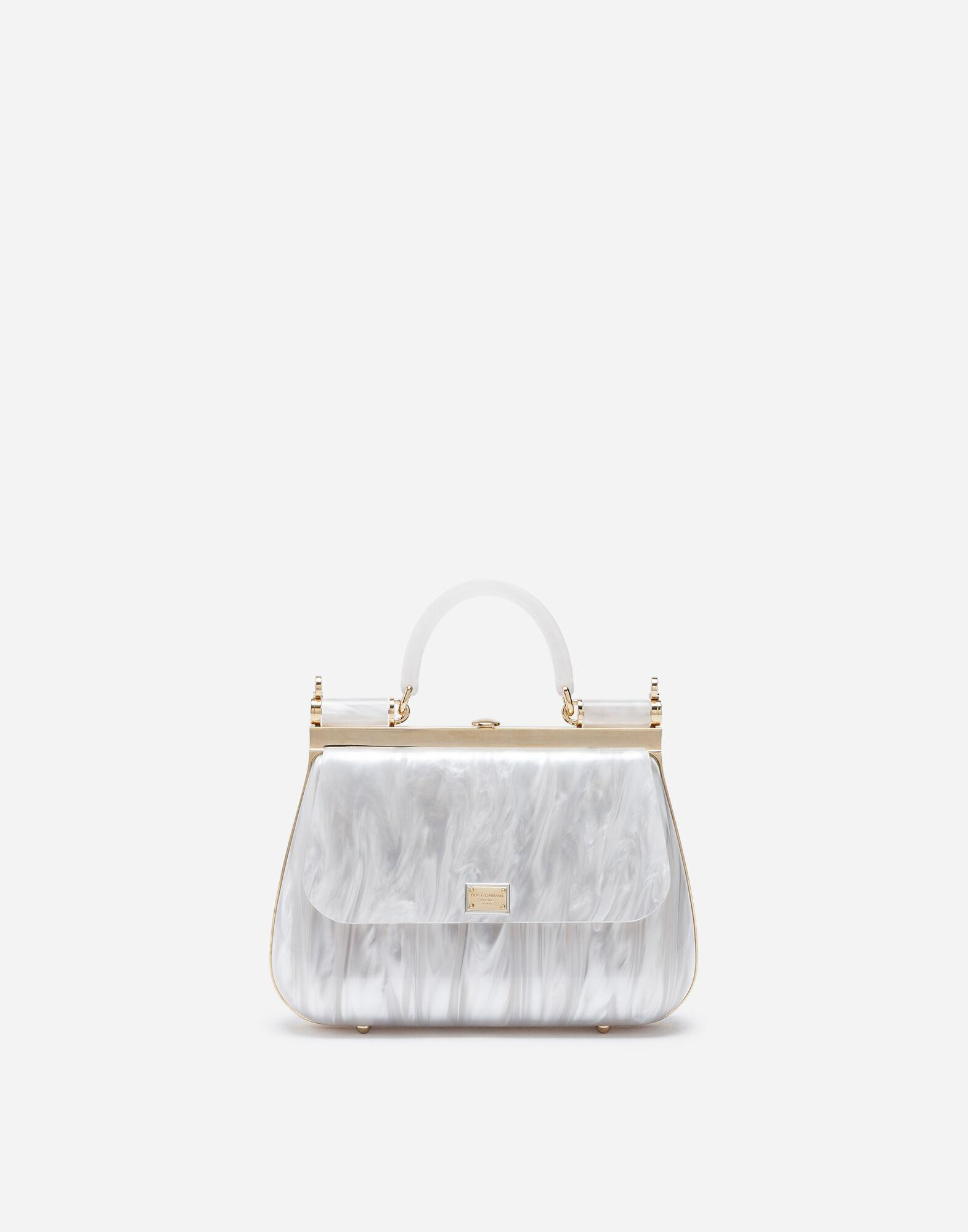 Sicily box bag in mother-of-pearl sint glass