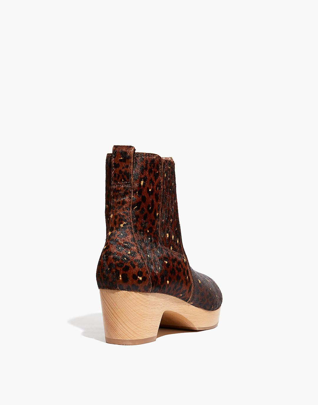 The Clog Boot in Painted Leopard Calf Hair 2