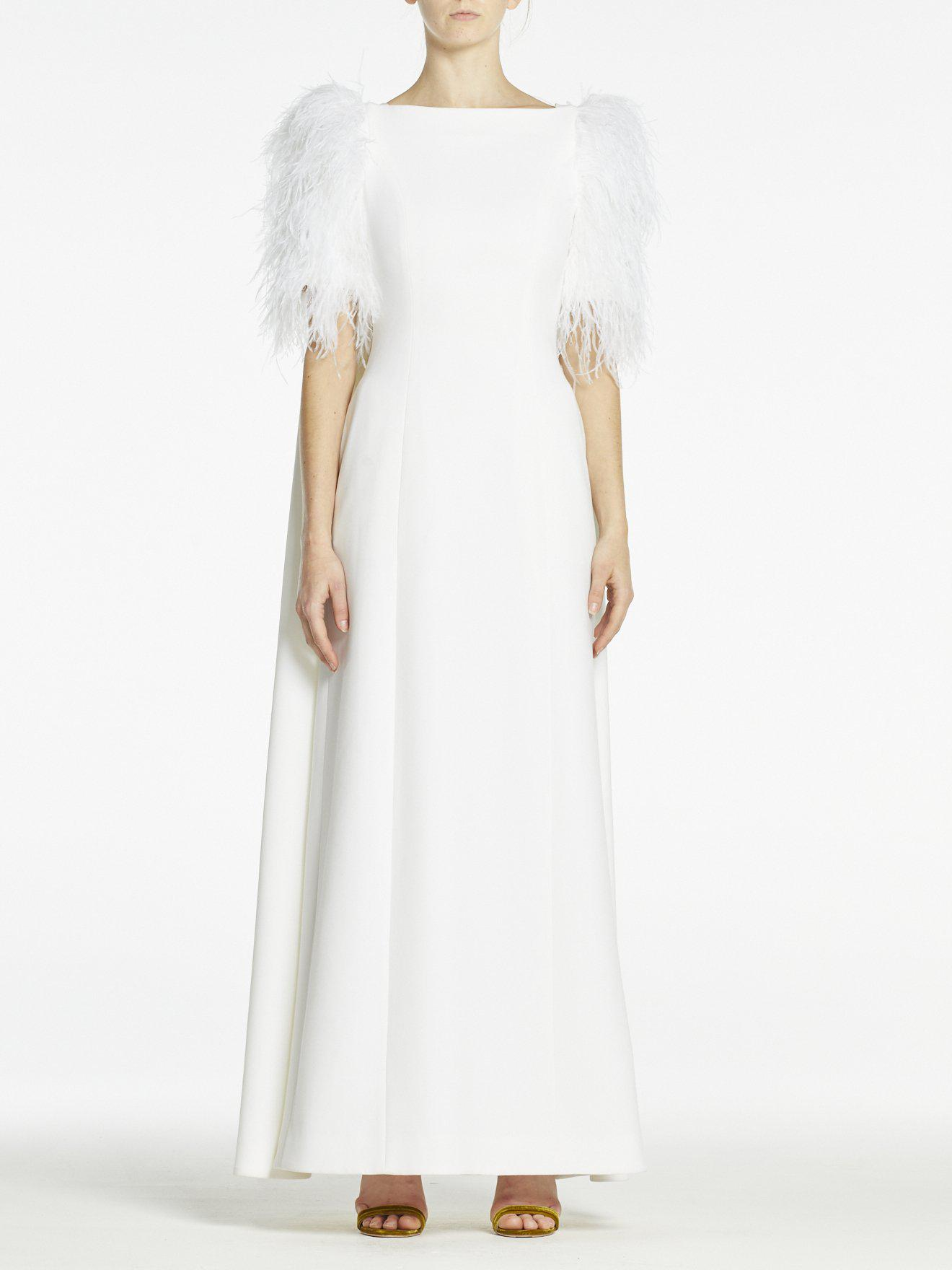 HORTENSE GOWN PURE WHITE CREPE