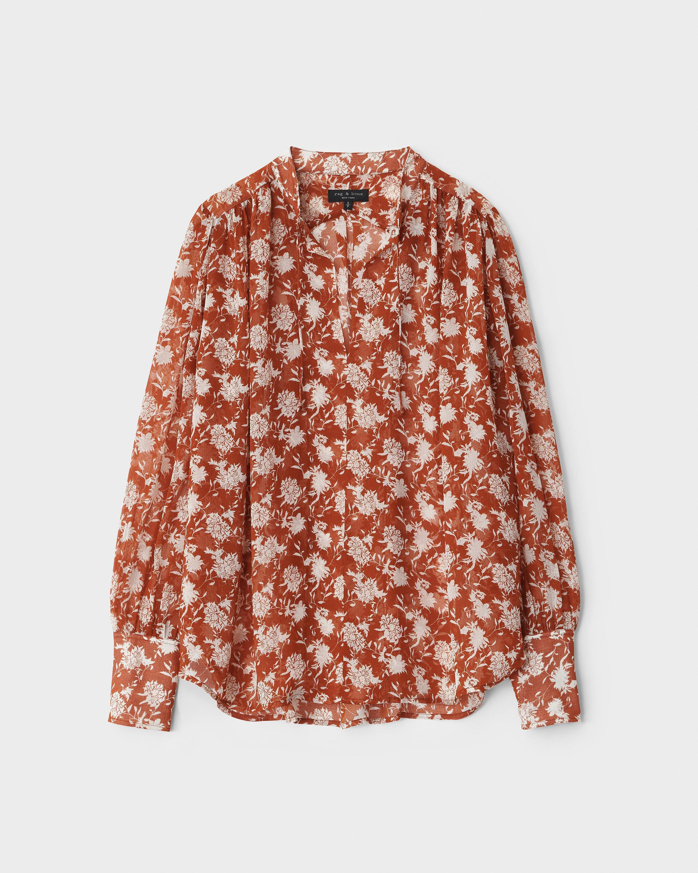 Carly floral tie blouse 4