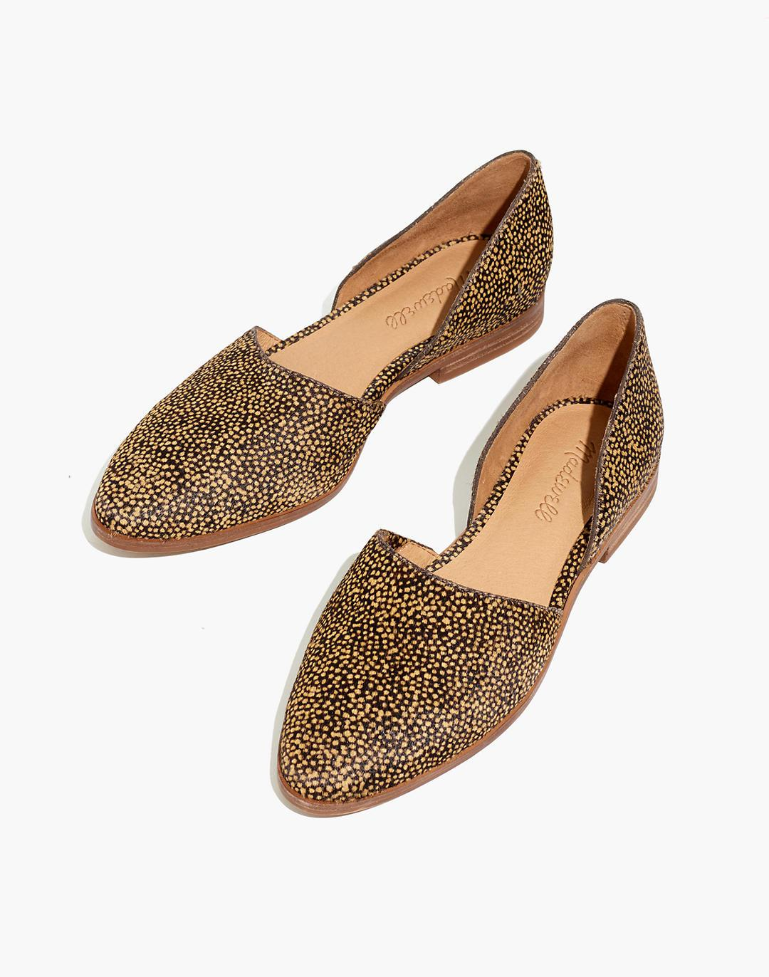The Marisa d'Orsay Flat in Spotted Calf Hair
