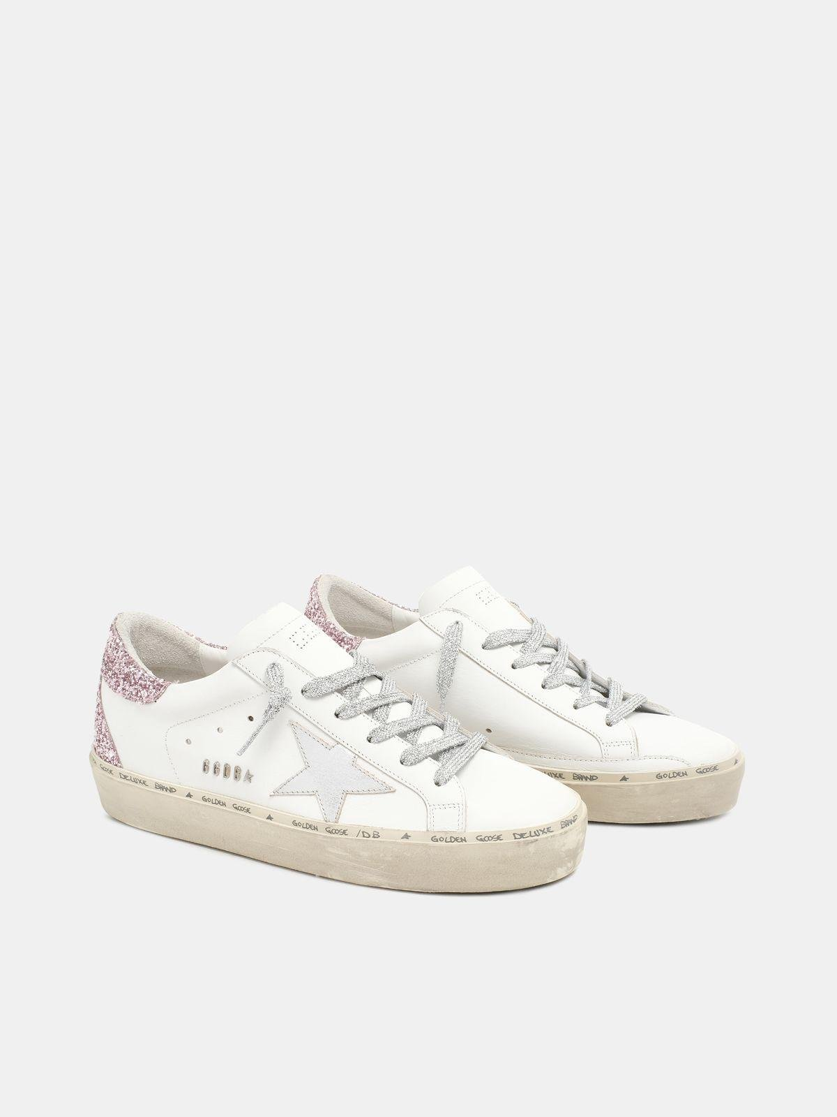 Hi Star sneakers with silver laminated leather star and quartz-pink glitter heel tab 2