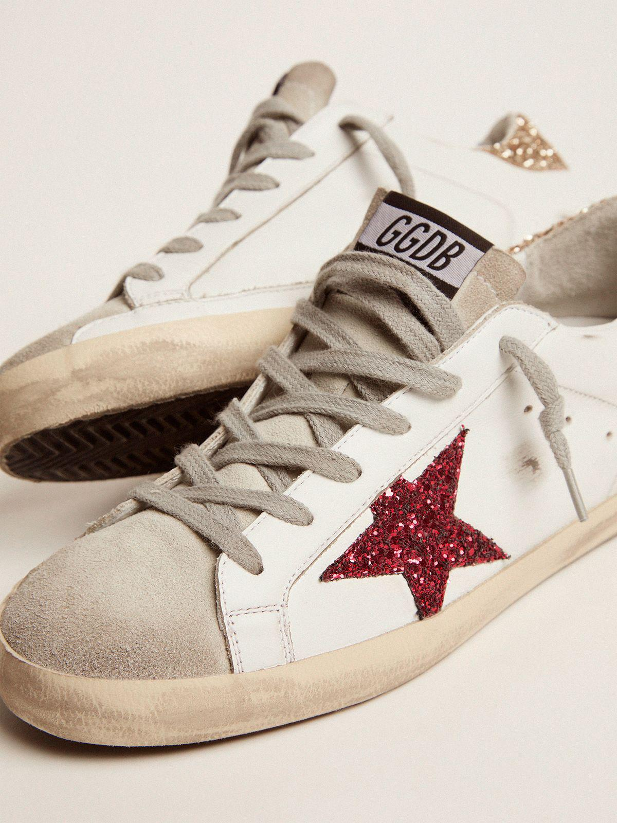 Super-Star sneakers with colored glitter star and heel tab 2