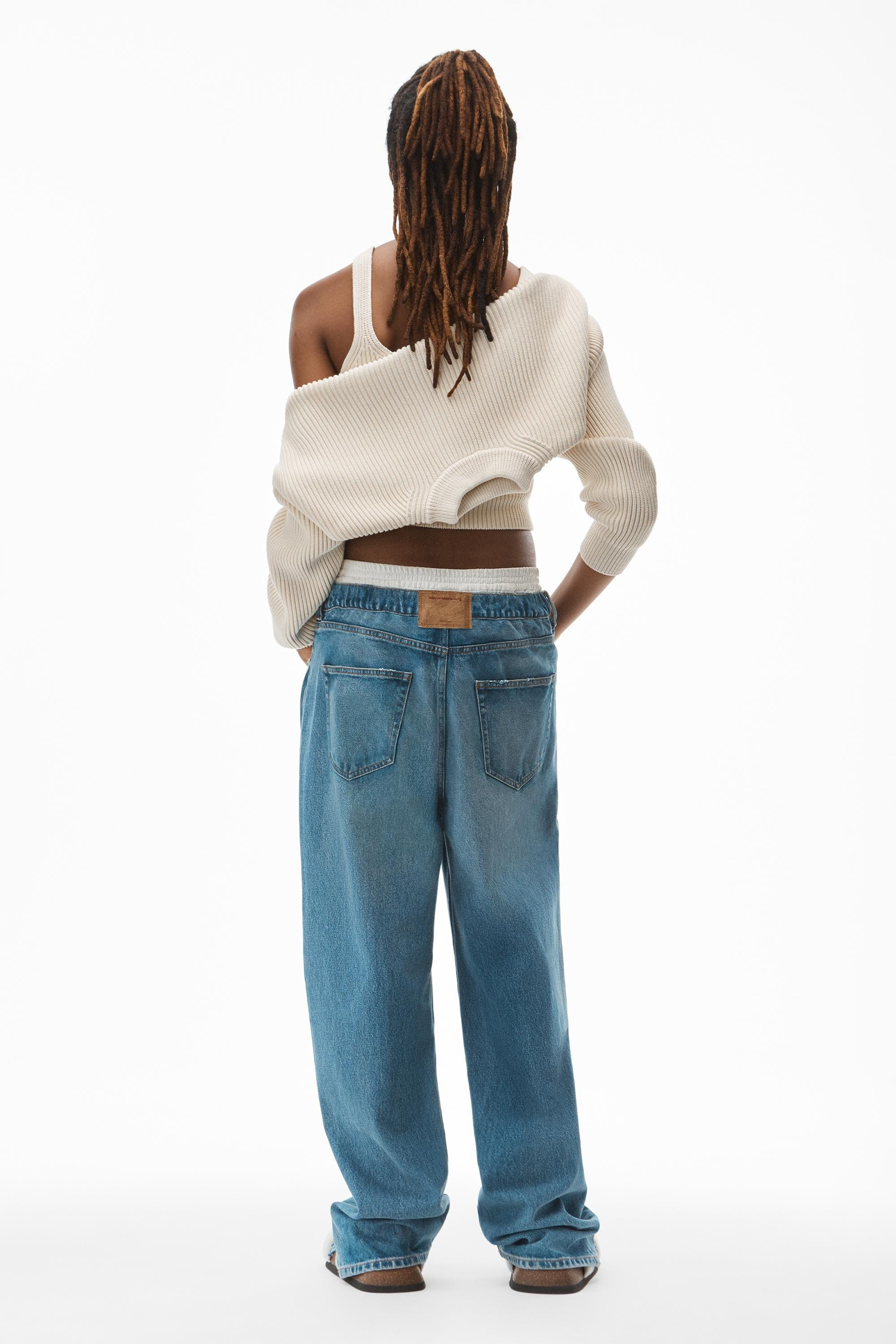 crewneck shrug in ribbed cotton chainette 4