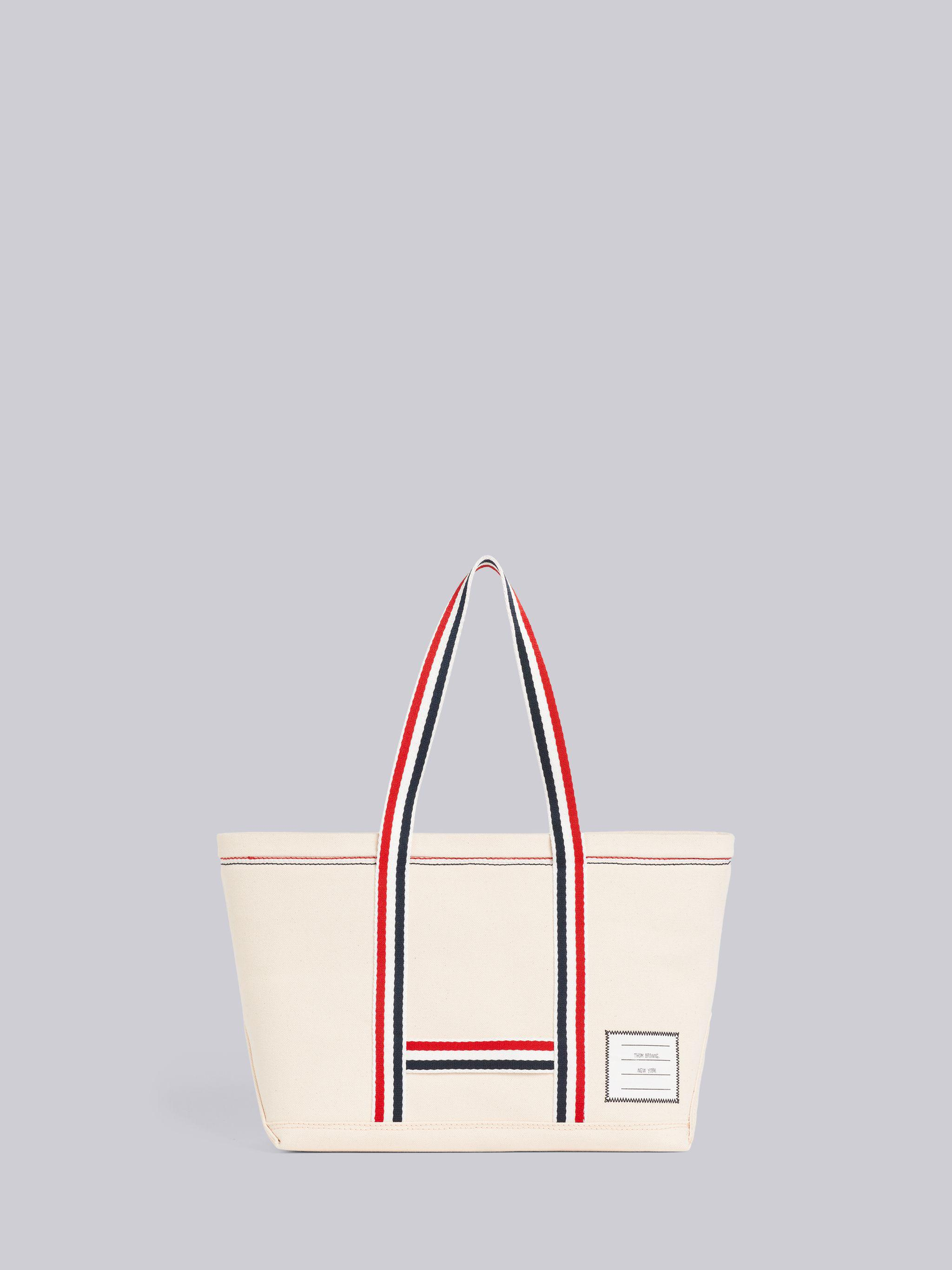 Off White Double Face Cotton Small Tool Tote Bag