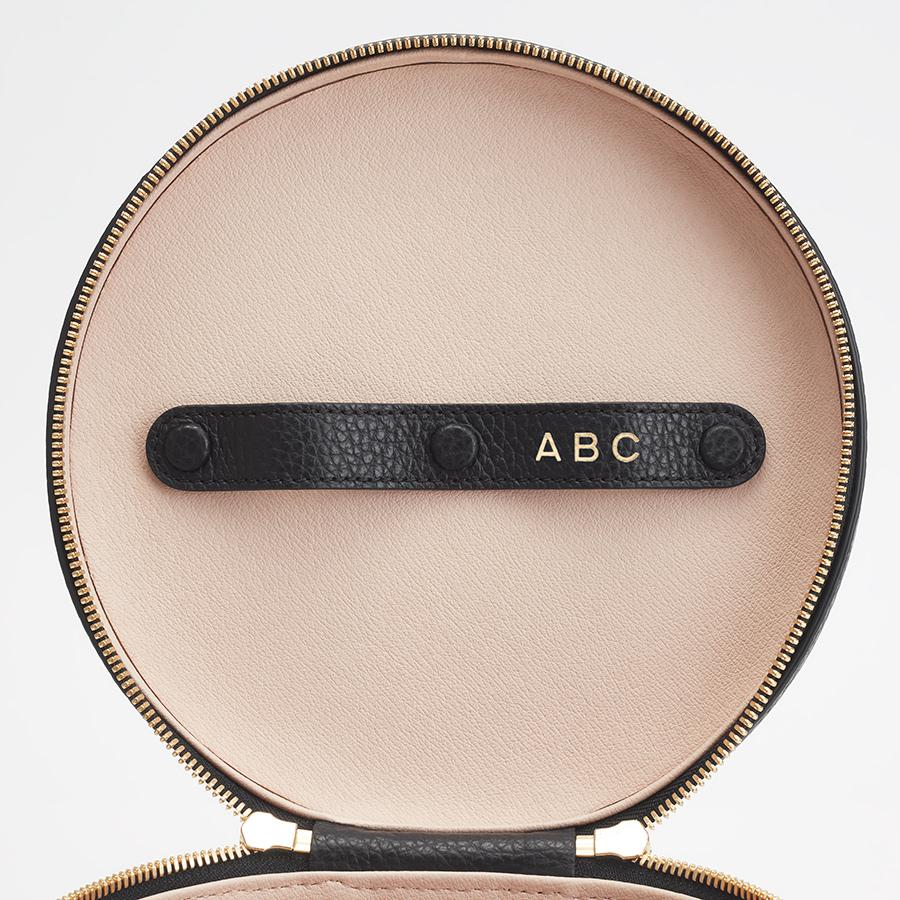 Women's Leather Wellness Case in Black   Pebbled Leather by Cuyana 4