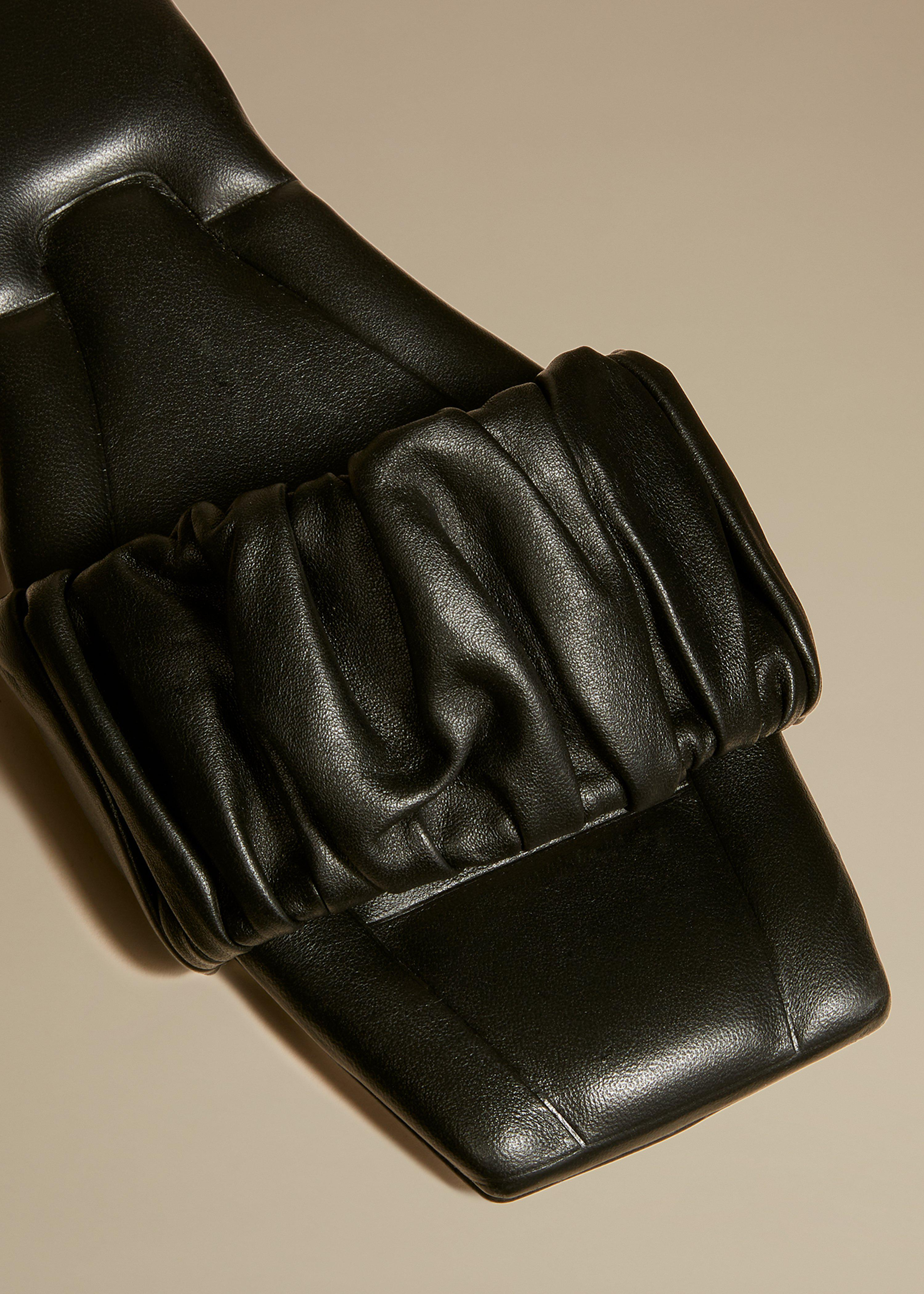 The Crete Flat in Black Leather 2