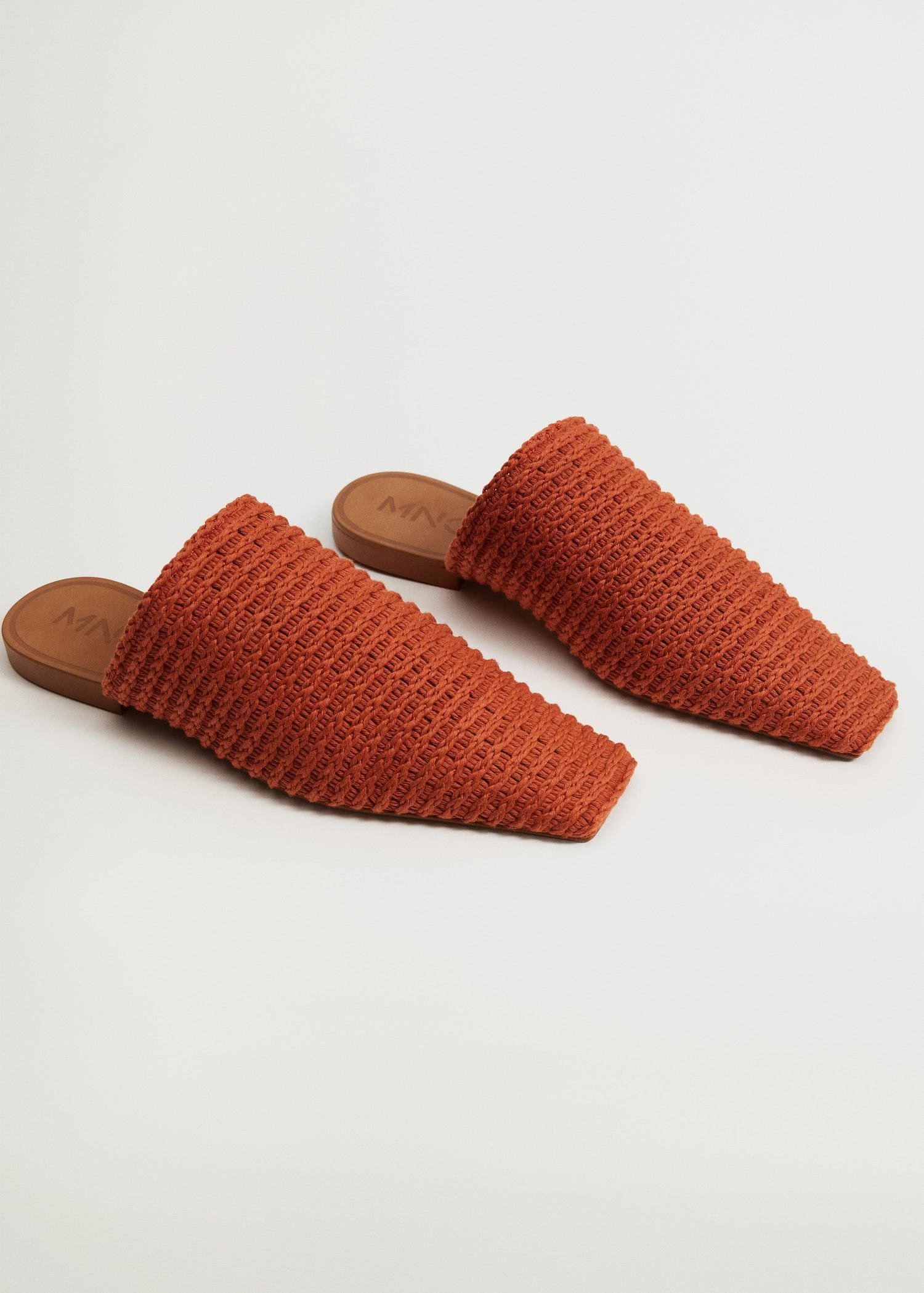 Recycled cotton braided babouche slippers 1