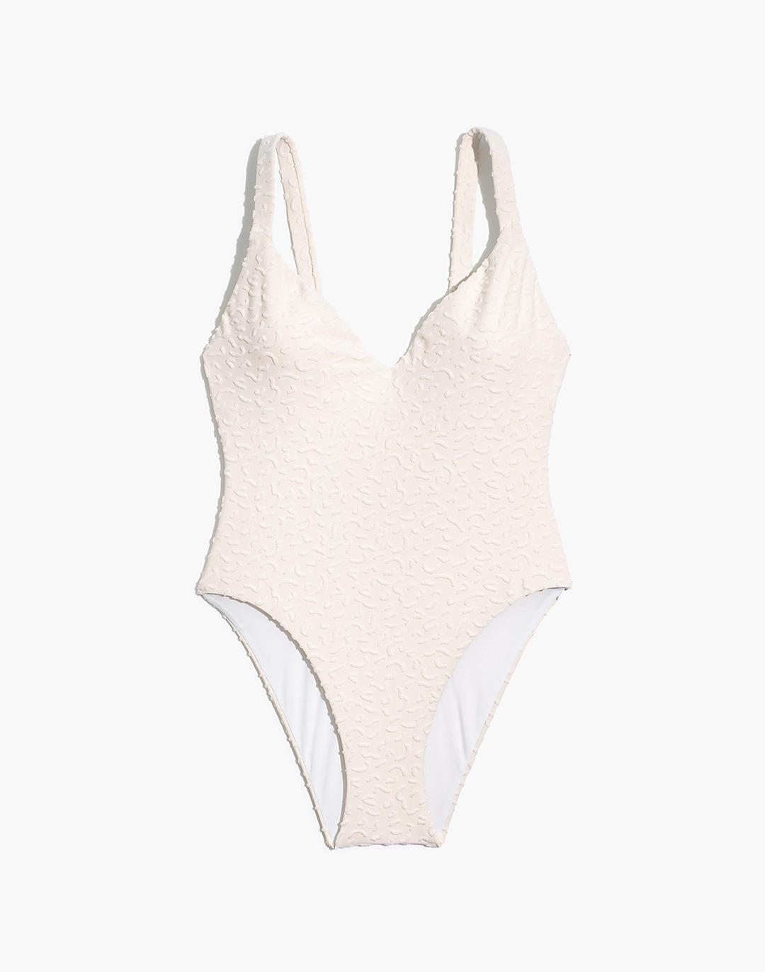 Madewell Maillot One-Piece Swimsuit in Bold Squiggles Jacquard 4