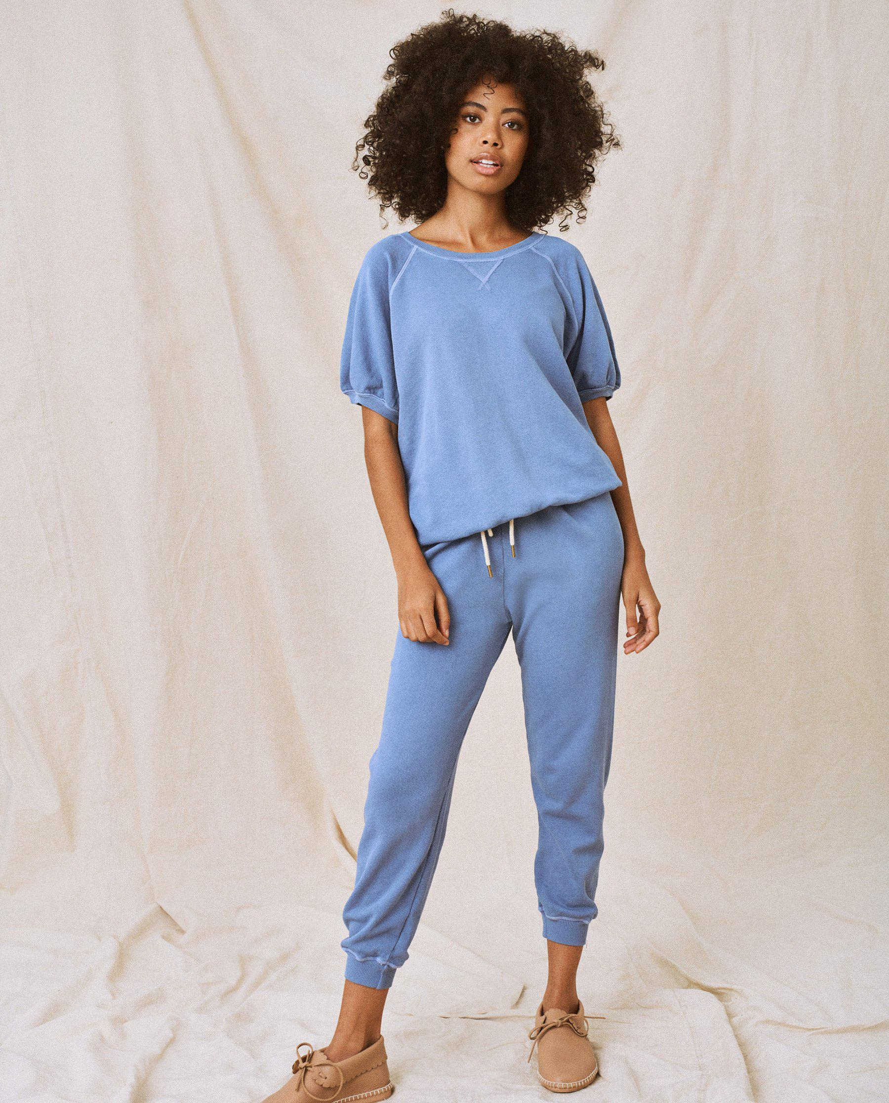 The Cropped Sweatpant. Solid -- Dutch Blue