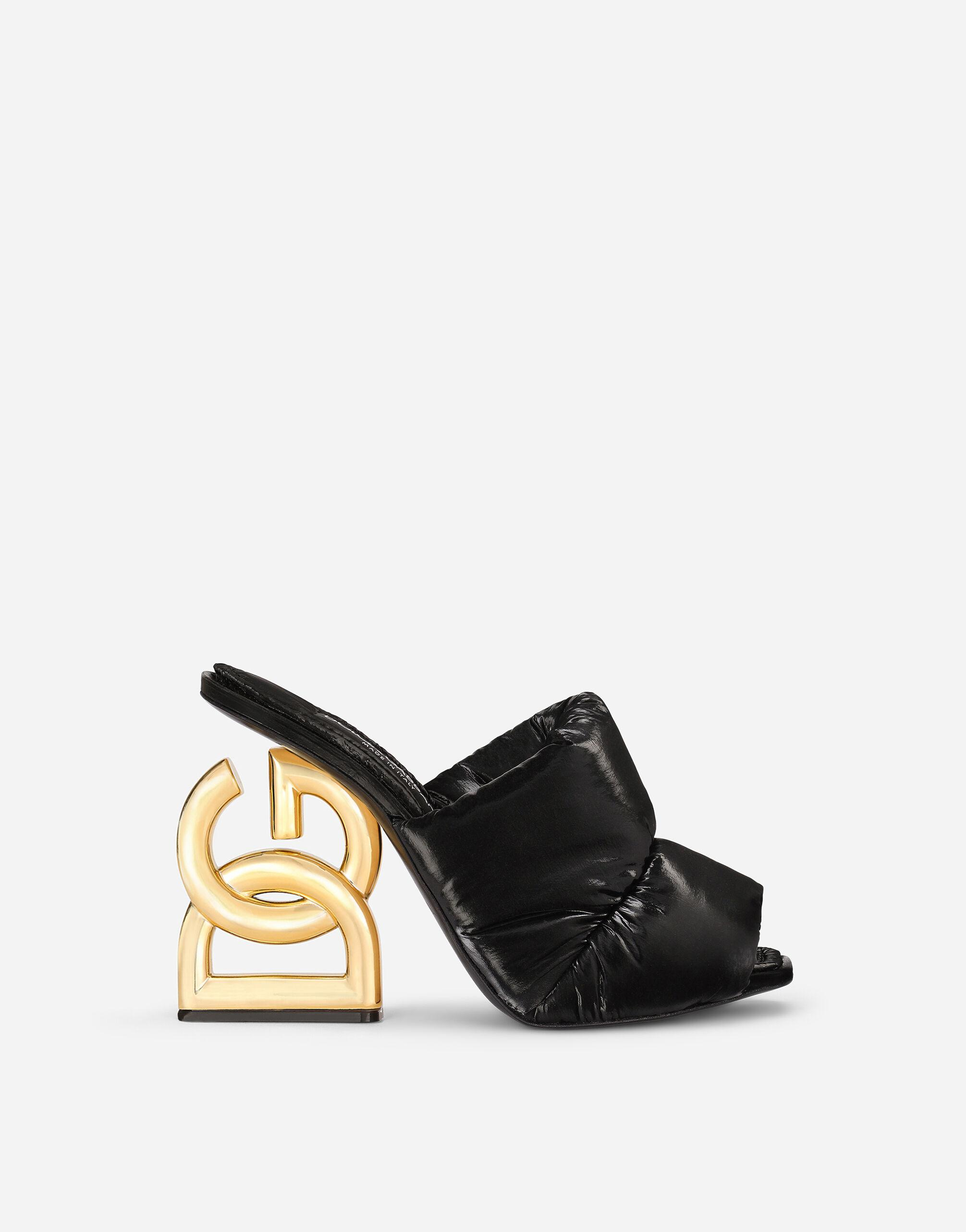Down-padded mules with DG Pop heel