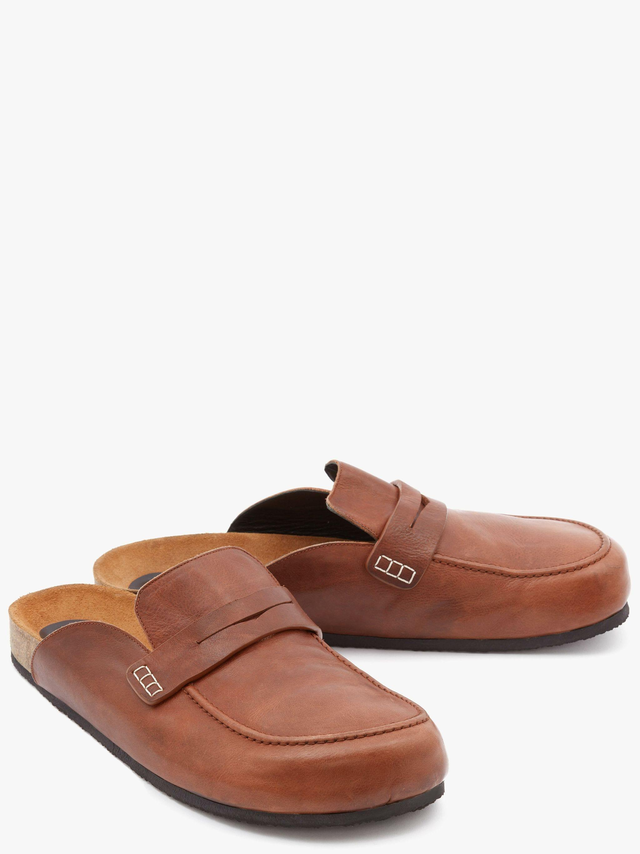 LEATHER LOAFER MULES 1