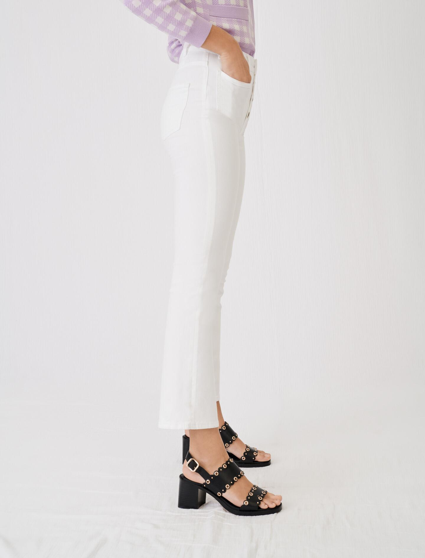 FLARED JEANS WITH POCKETS AND BUTTONS 2