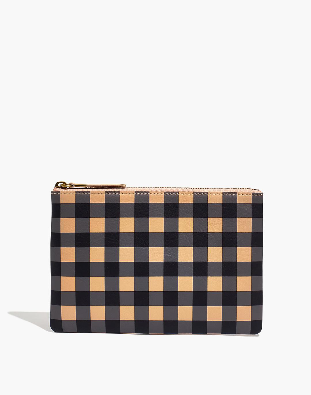 The Leather Pouch Clutch: Gingham Edition