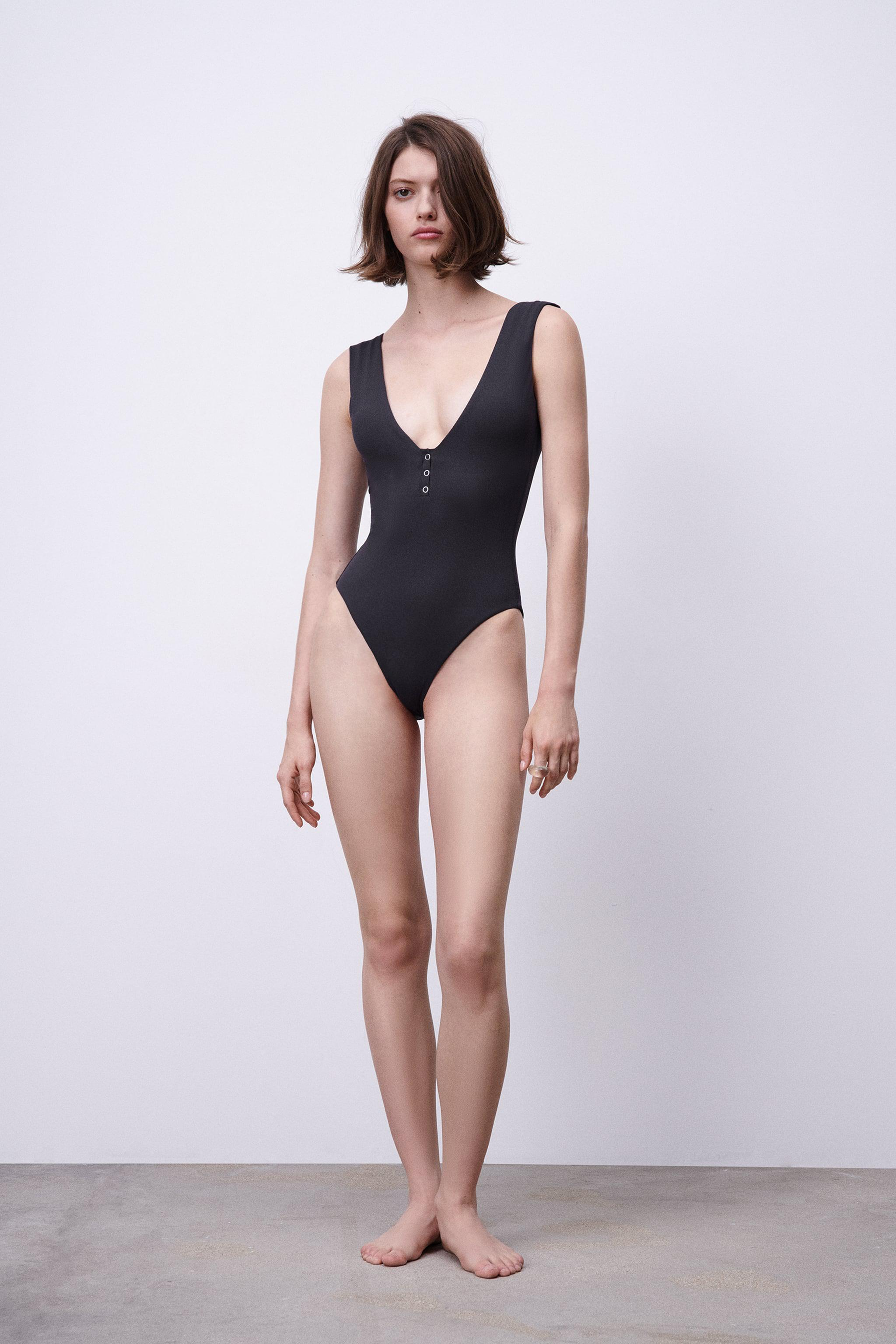 SNAPS RIBBED SWIMSUIT 0