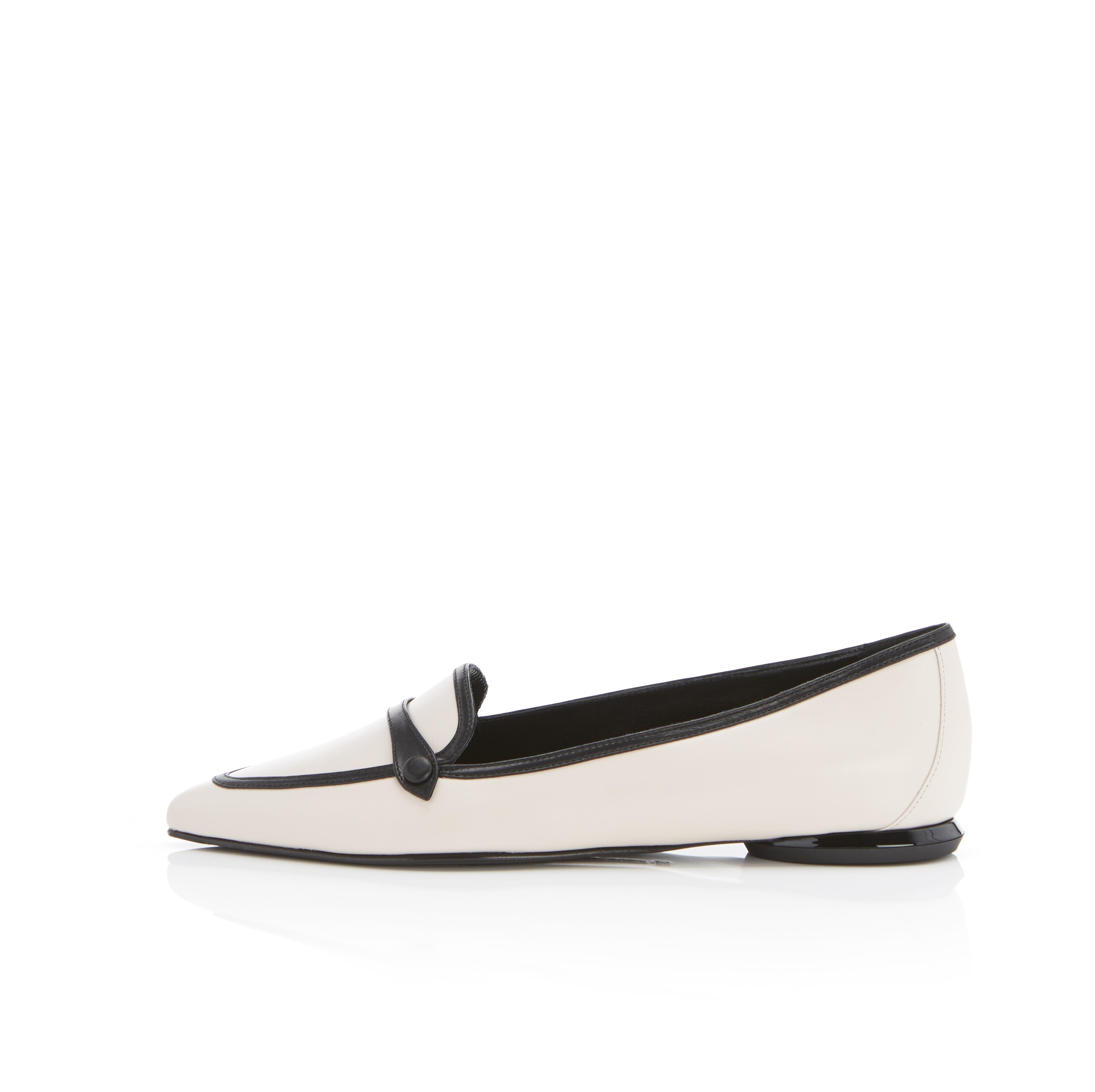 Natalie | Leather Pointy Toe Flat Loafer