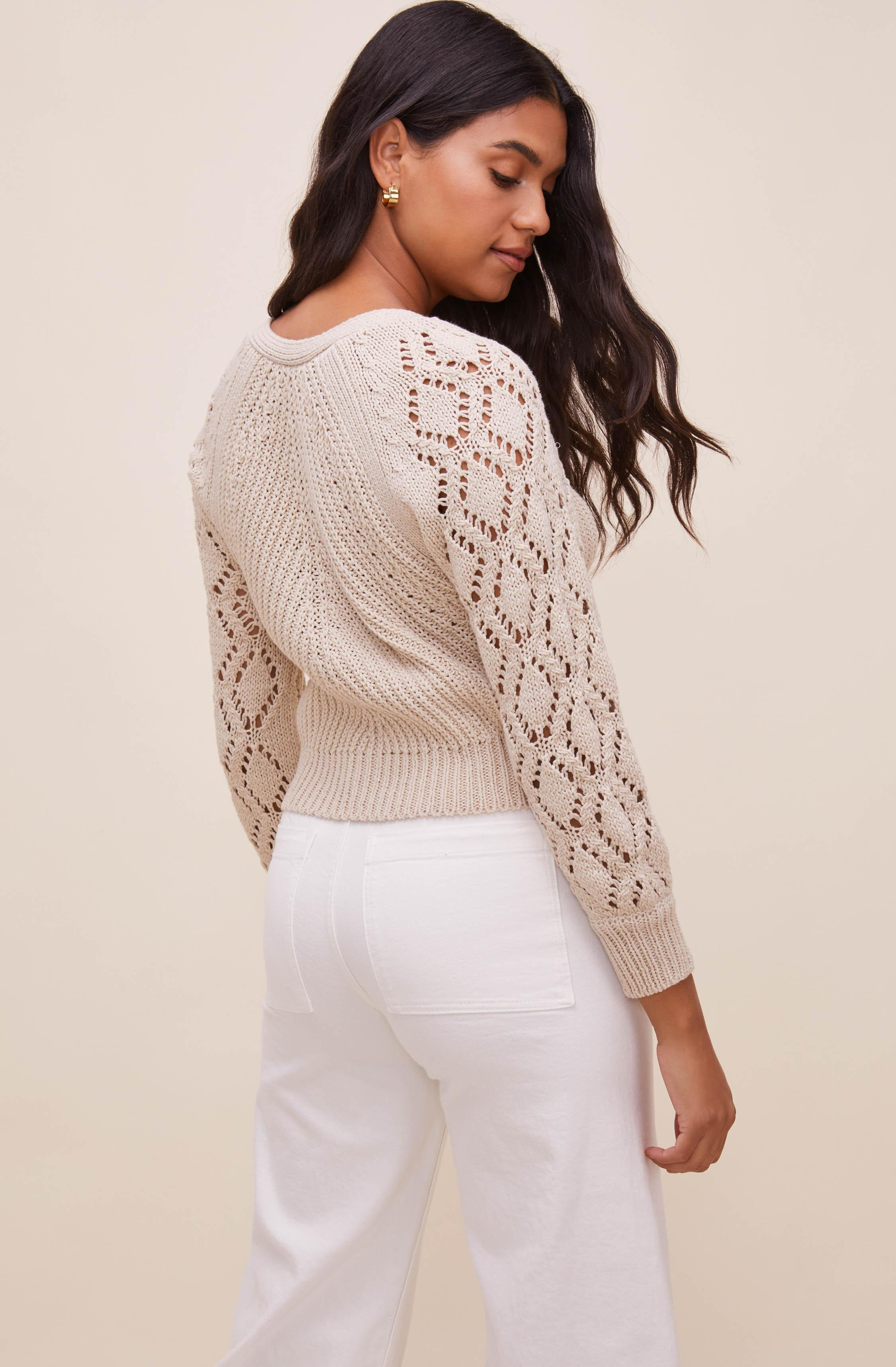 Angelica Pointelle Knit Cardigan 4