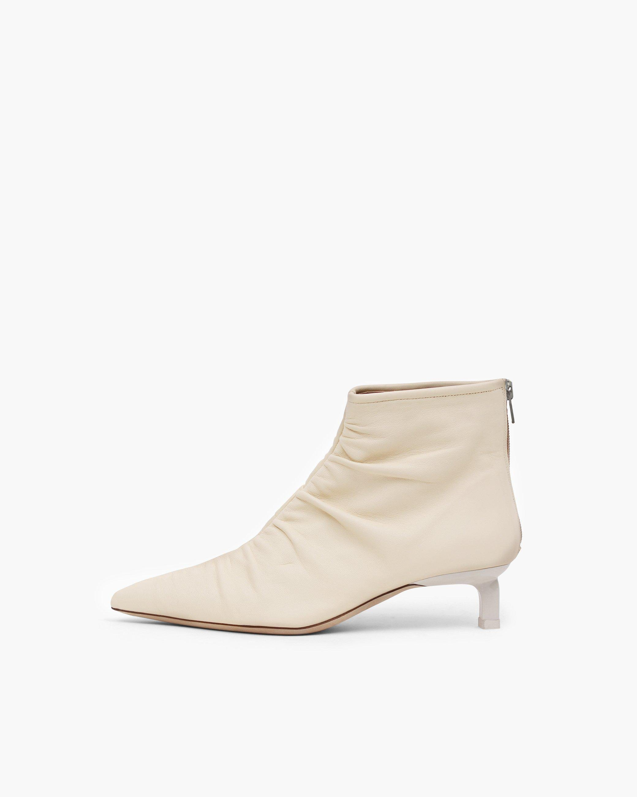Erin Boots Leather Cream