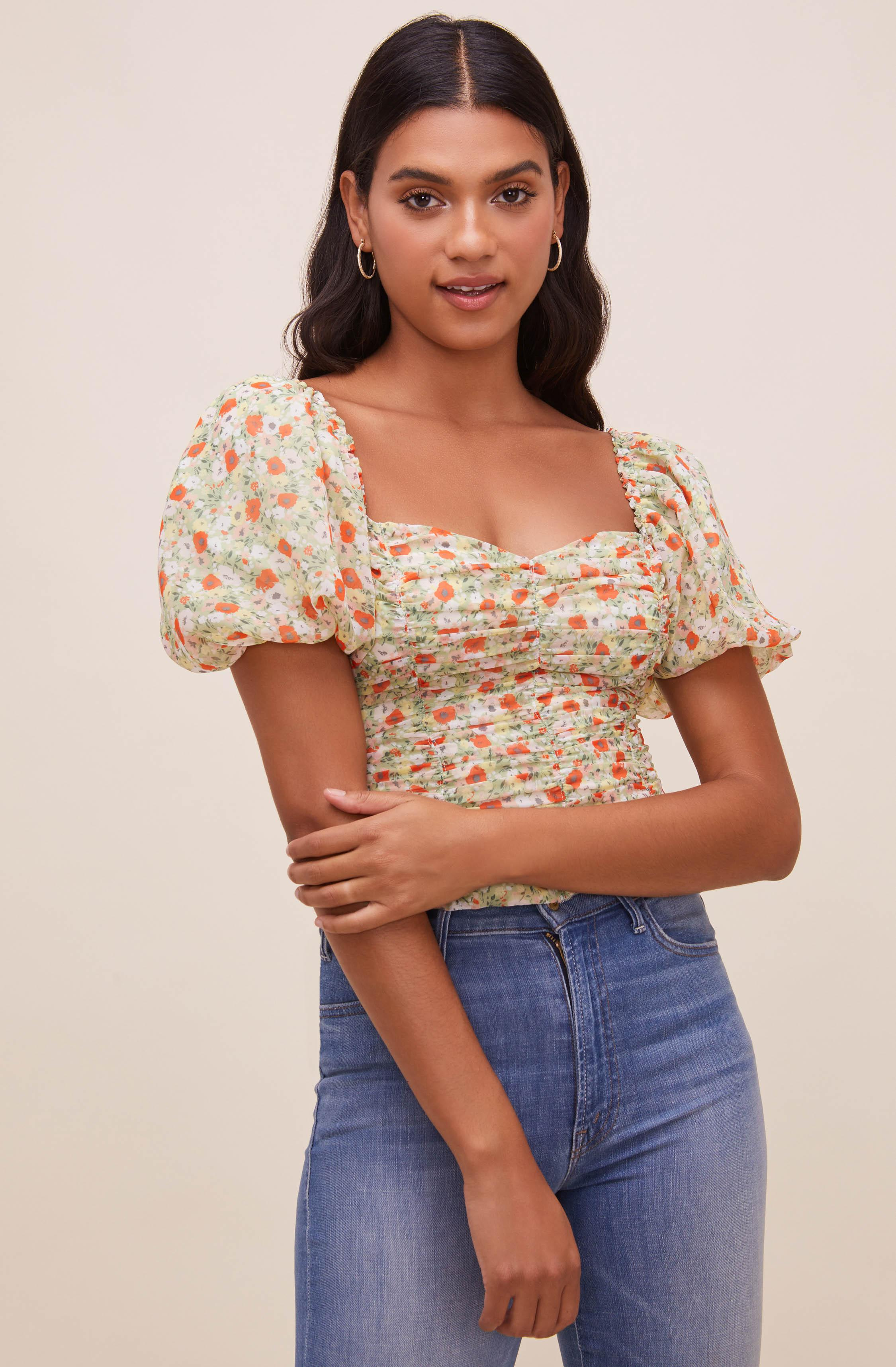 Tenley Floral Ruched Top