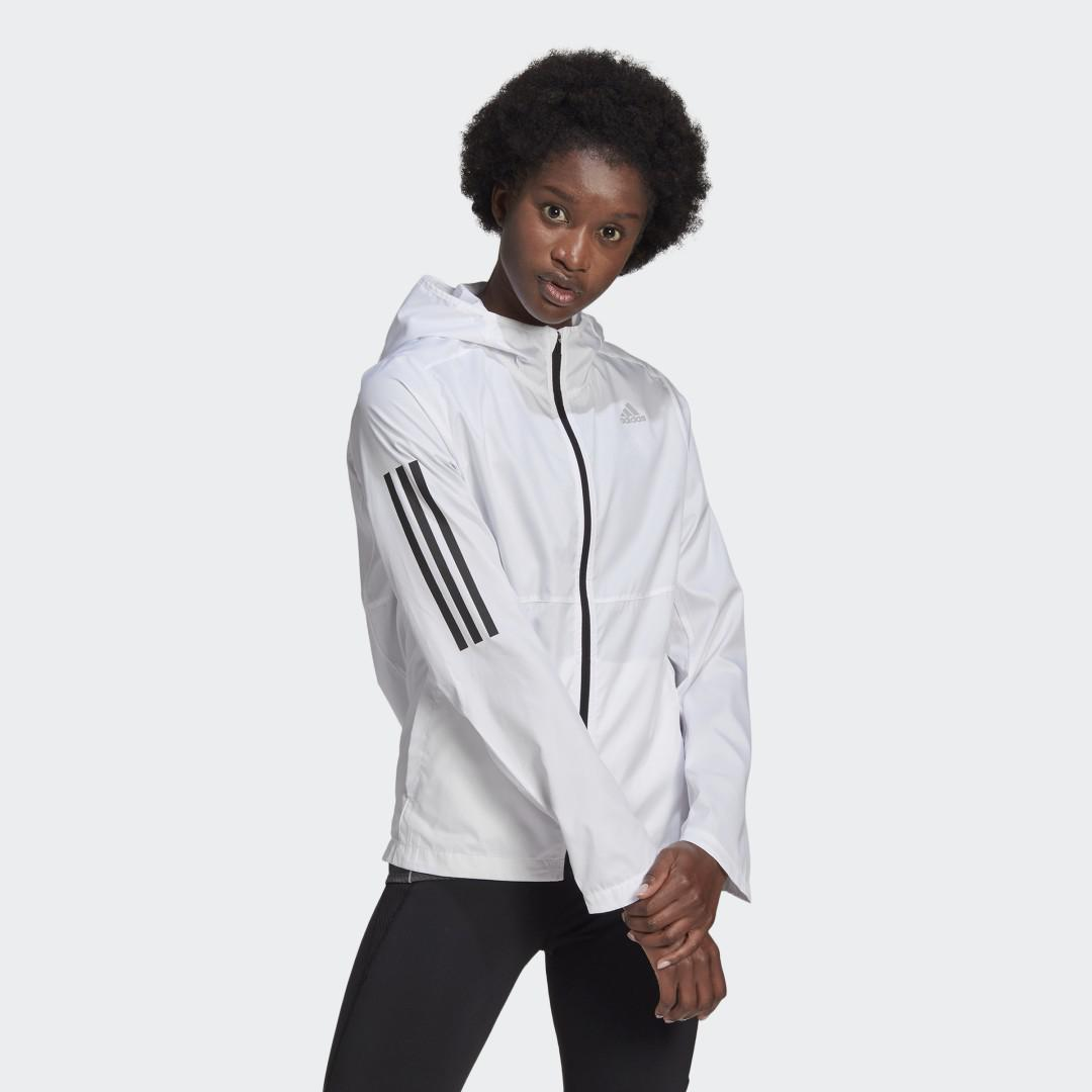 Own the Run Hooded Wind Jacket White