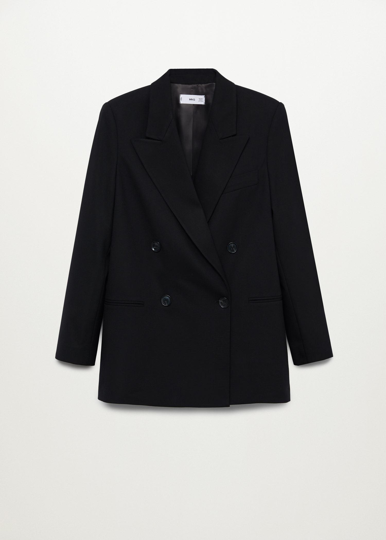 Double-breasted structured blazer 5