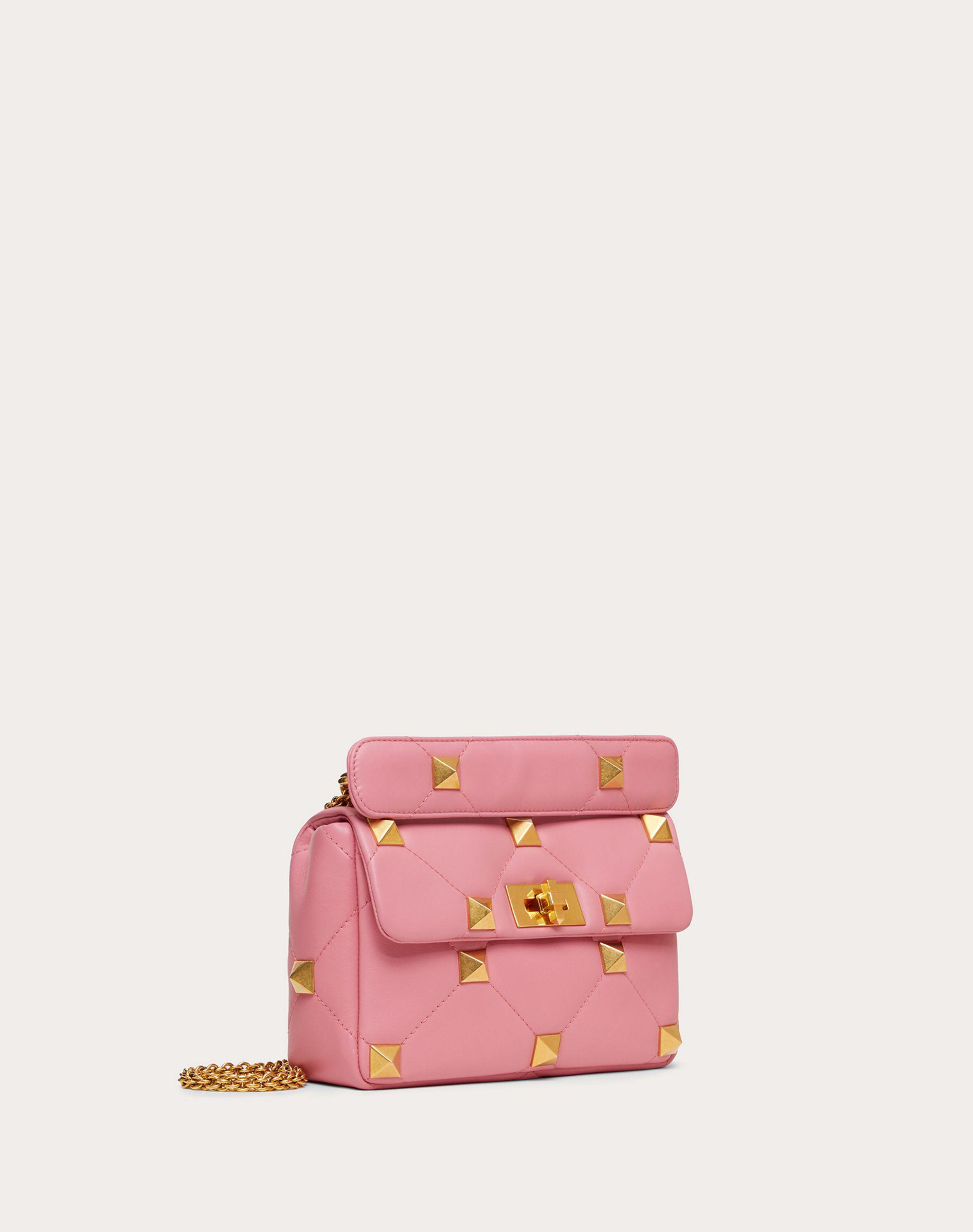 Medium Roman Stud The Shoulder Bag in Nappa with Chain 1