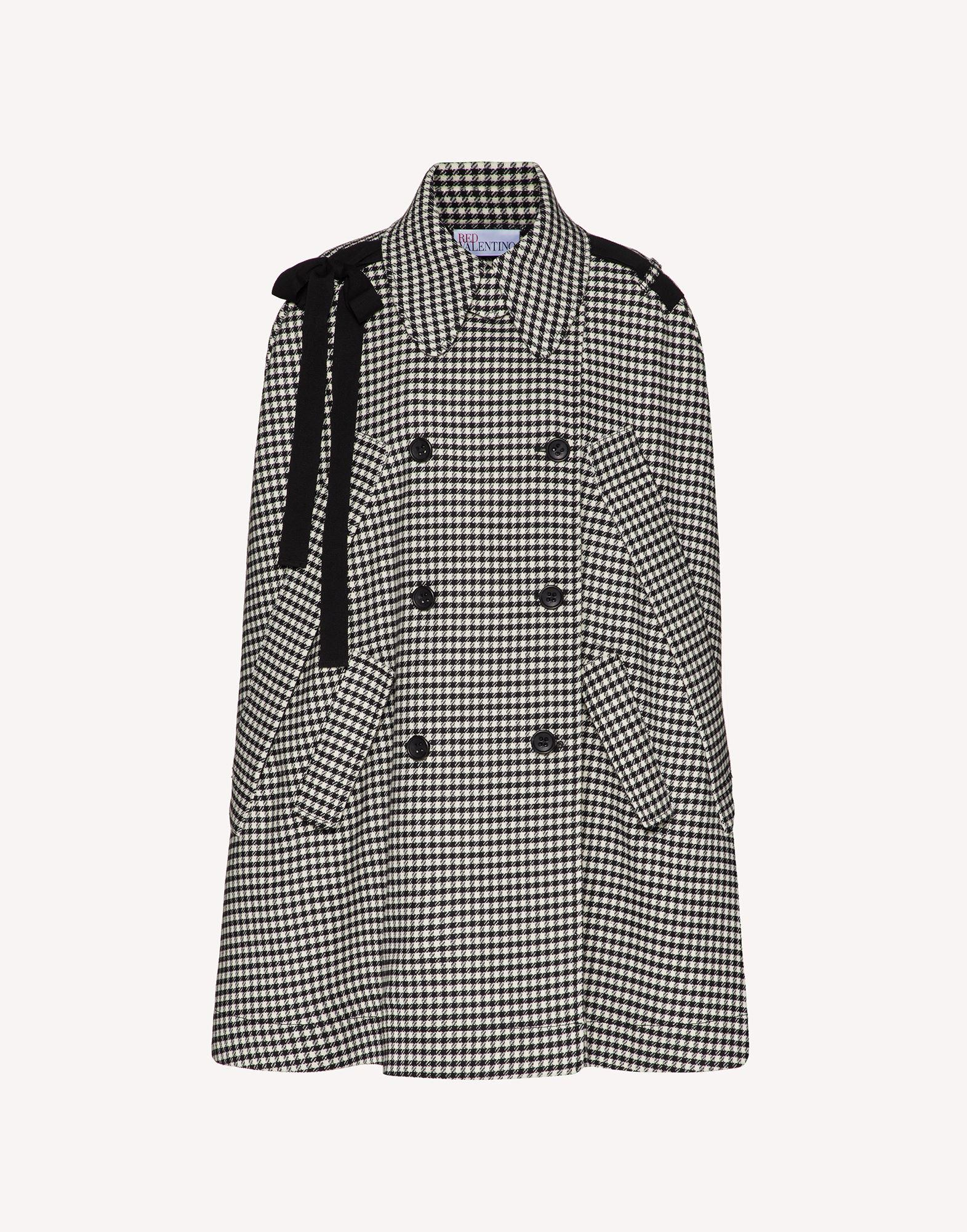 VICHY MOTIF CAPE WITH BOW DETAIL 4