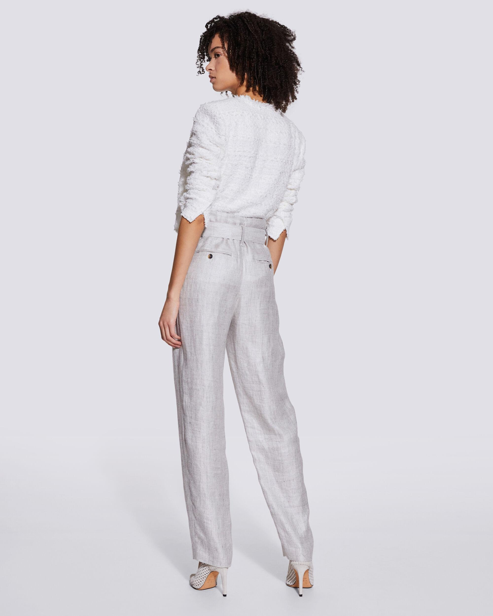 NAJAVA BELTED HIGH WAIST TROUSERS 2
